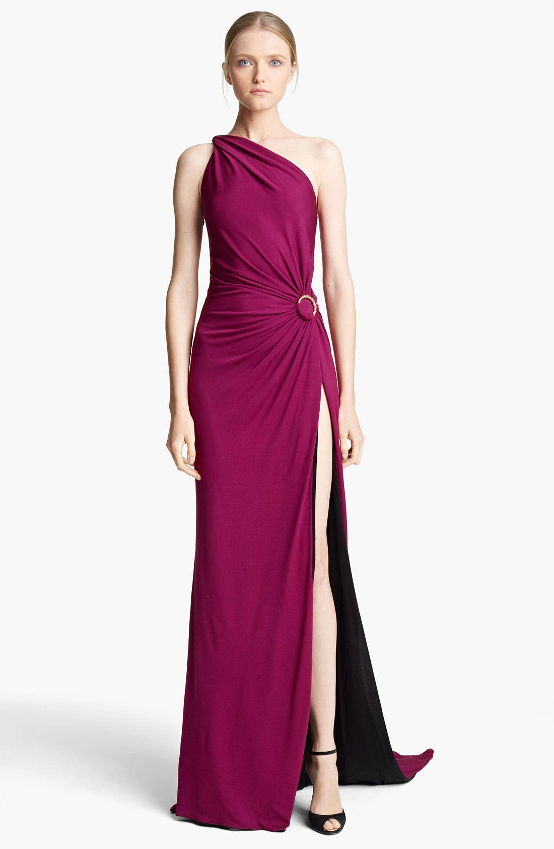 Alternate Image 1 Selected - Emilio Pucci One Shoulder Jersey Gown