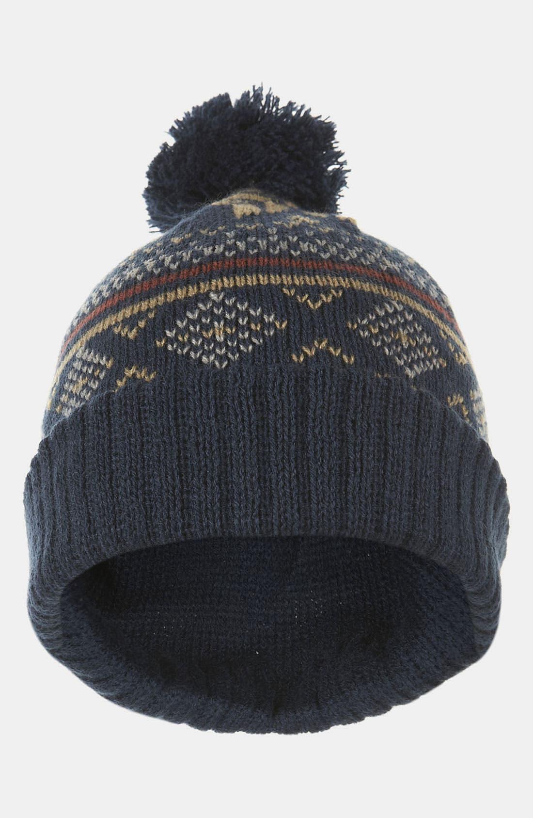 Alternate Image 2  - Topman Patterned Knit Cap