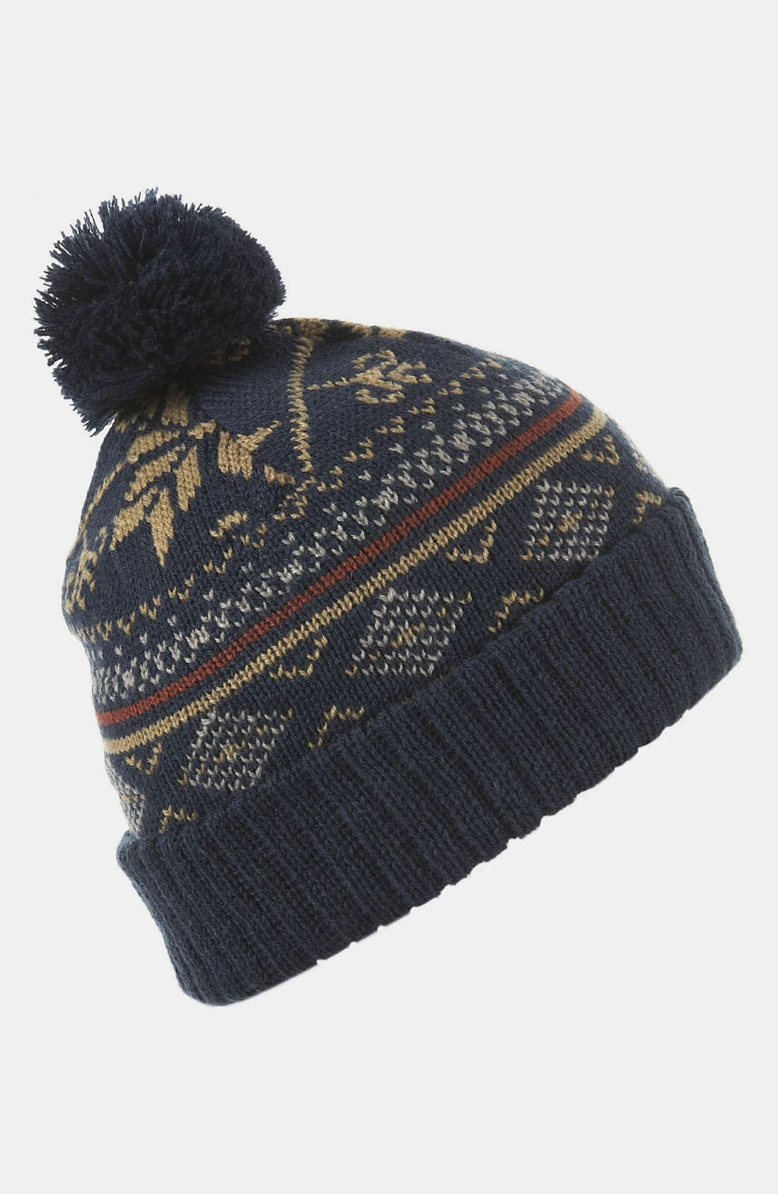 Alternate Image 1 Selected - Topman Patterned Knit Cap