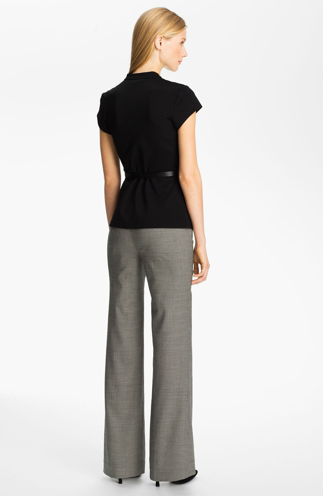 Alternate Image 5  - Classiques Entier® Belted Houndstooth Stretch Wool Pants