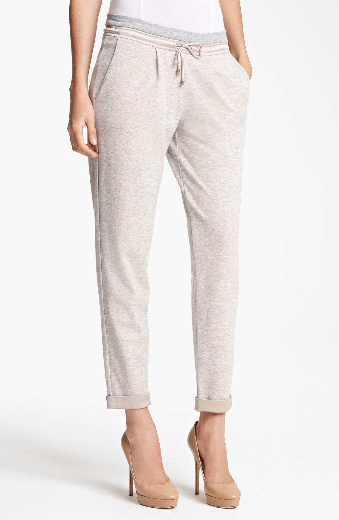 Alternate Image 1 Selected - Fabiana Filippi Slouchy Jersey Pants