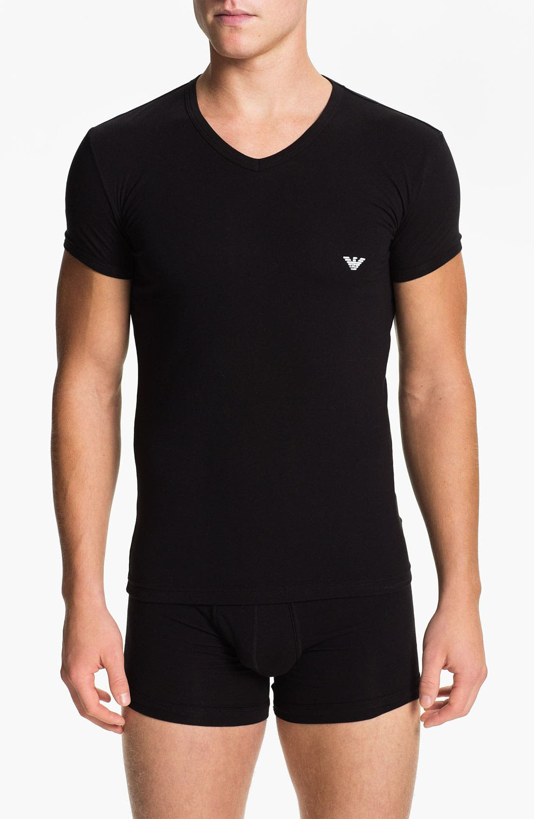 Main Image - Emporio Armani V-Neck Stretch Cotton T-Shirt