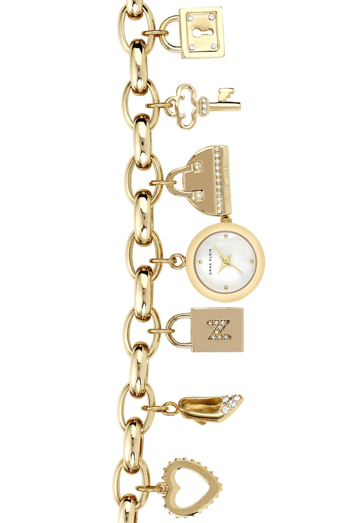 Alternate Image 1 Selected - Anne Klein Charm Bracelet Watch (Nordstrom Exclusive)