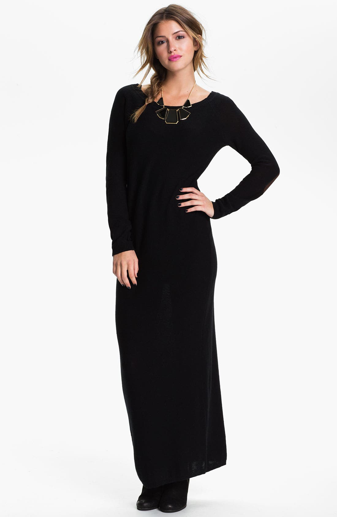 Alternate Image 1 Selected - Rubbish® Sweater Maxi Dress (Juniors)