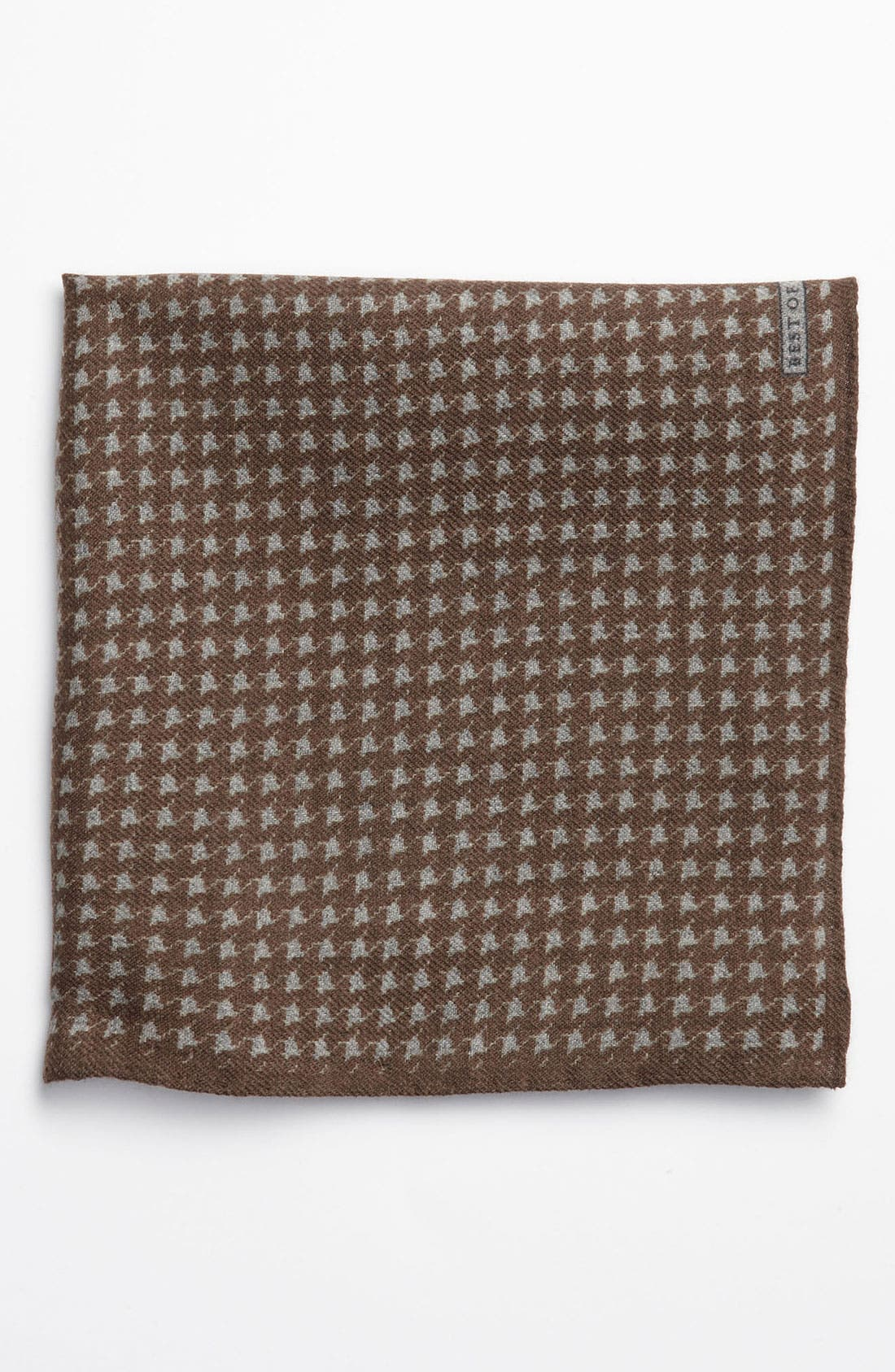 Main Image - Robert Talbott Houndstooth Wool Pocket Square