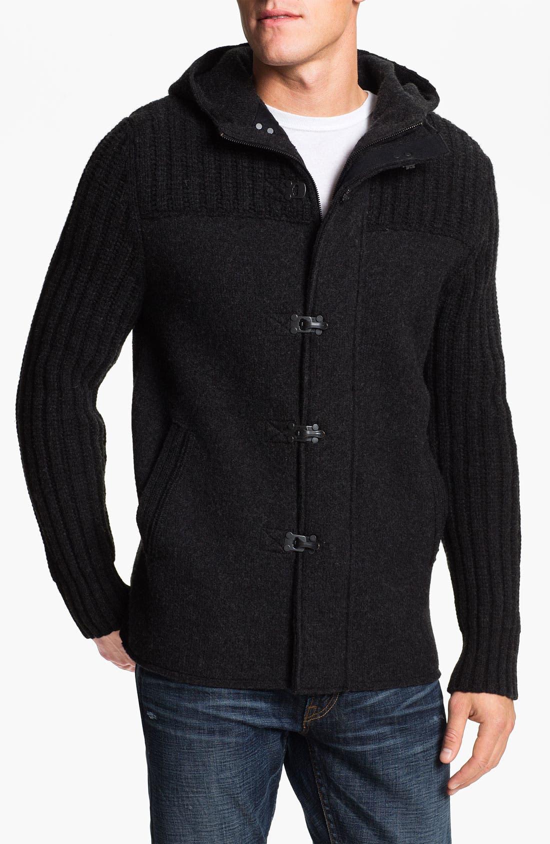 Alternate Image 1 Selected - BOSS Orange 'Kristen' Wool Hooded Sweater