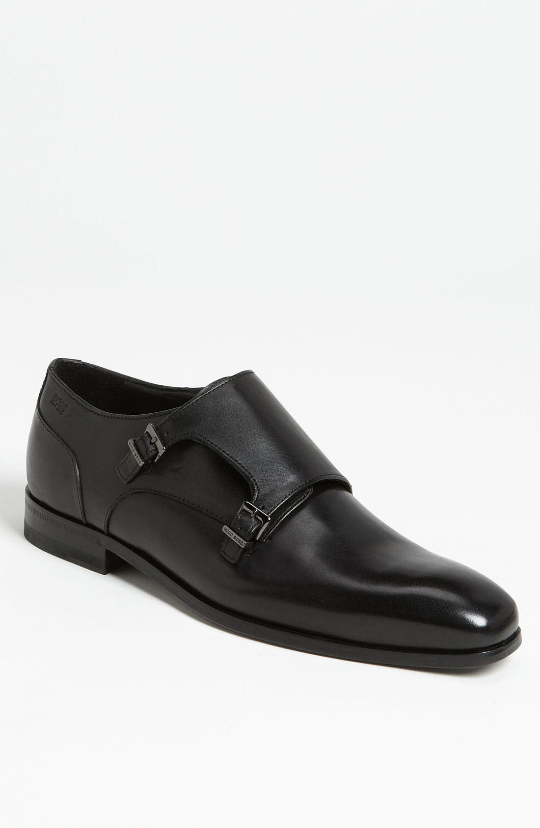 Alternate Image 1 Selected - BOSS Black 'Copers' Double Monk Strap Slip-On