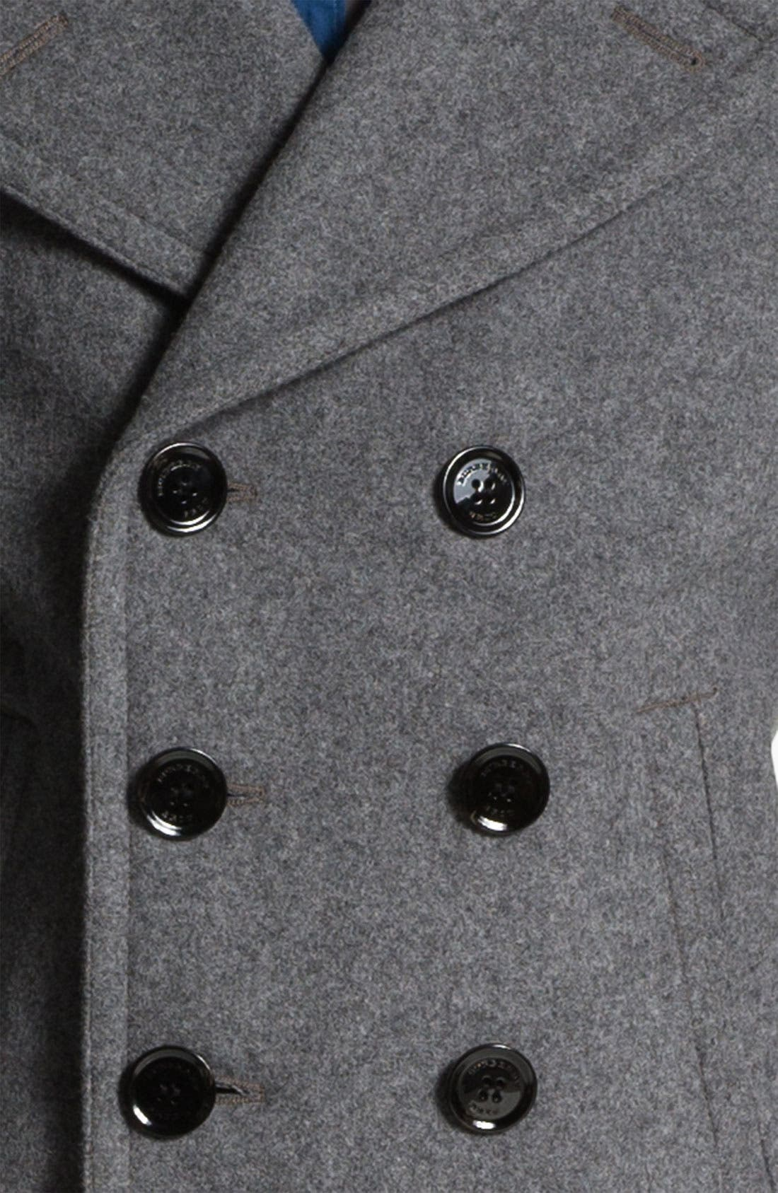 Alternate Image 3  - Burberry Brit Double Breasted Peacoat