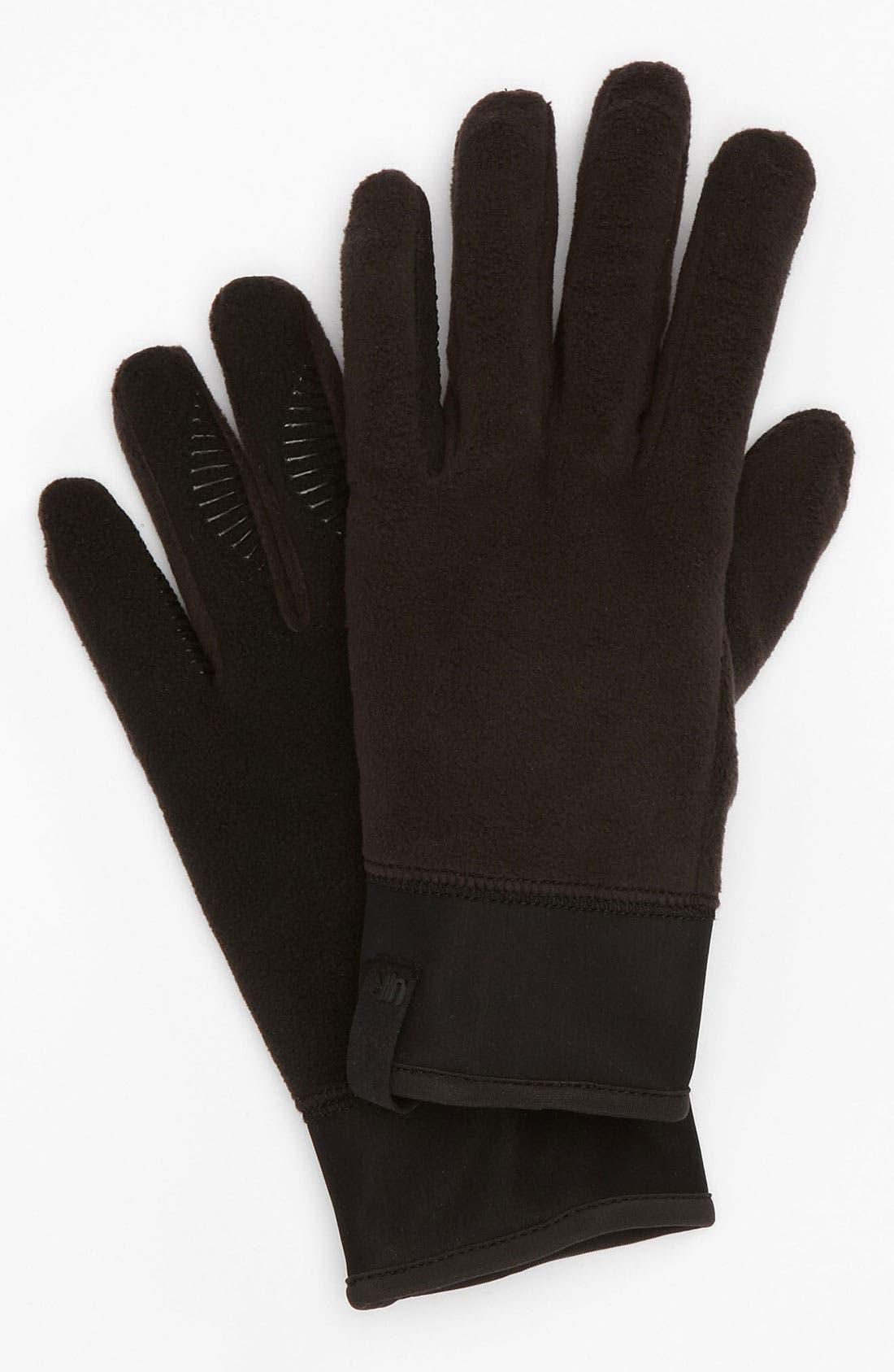 Alternate Image 1 Selected - U|R Tech Fleece Gloves