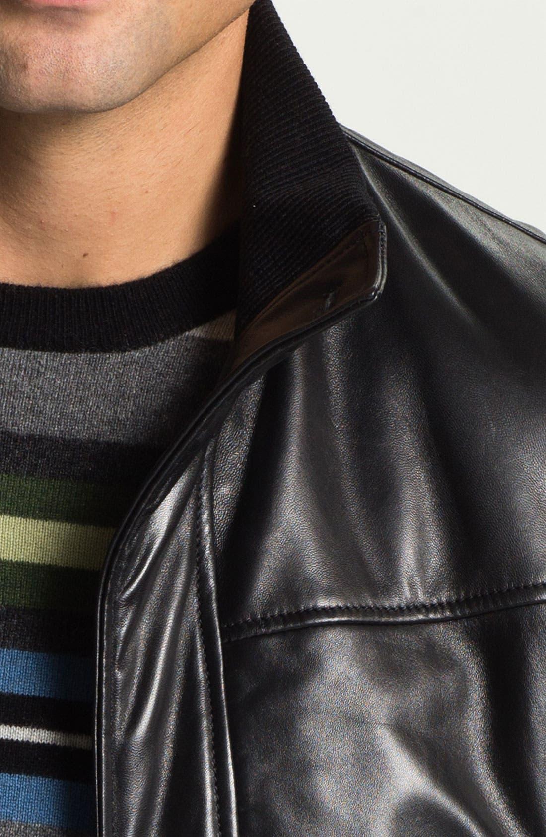 Alternate Image 3  - Alex & Co. Leather Bomber Jacket