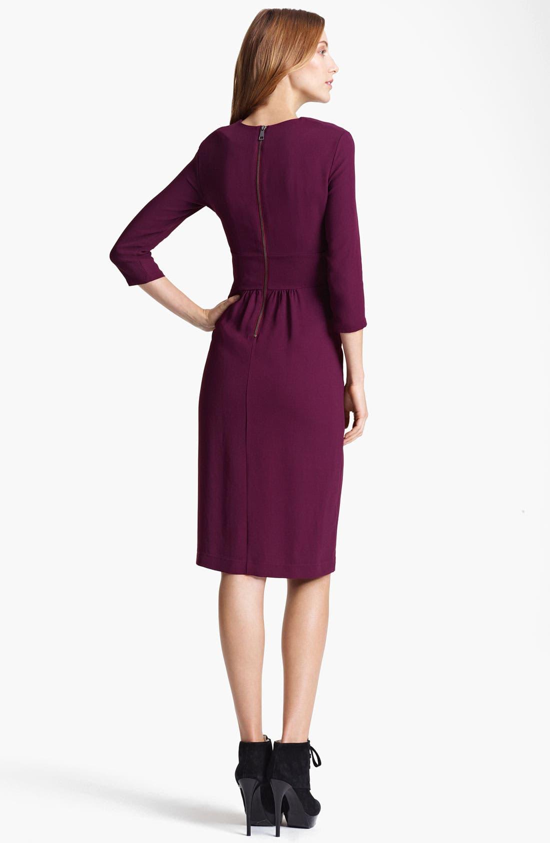 Alternate Image 2  - Burberry London Twisted Waist Crepe Dress