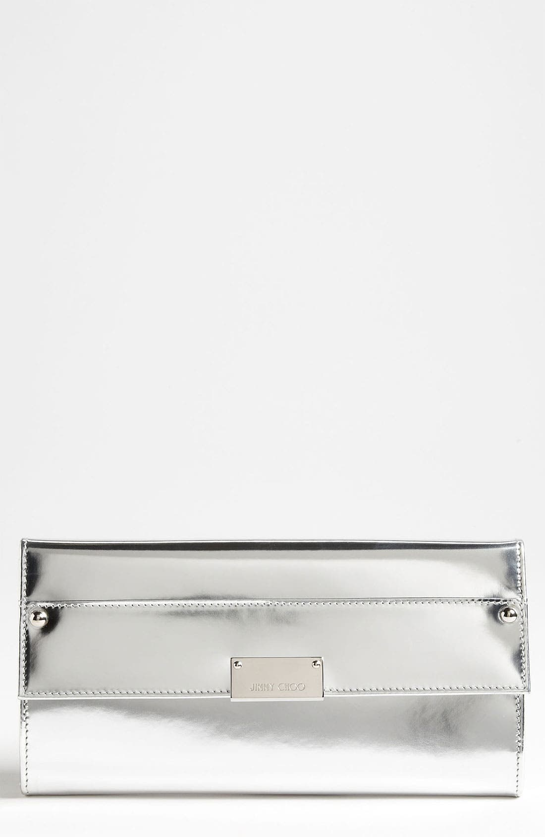 Alternate Image 1 Selected - Jimmy Choo 'Reese' Metallic Leather Clutch