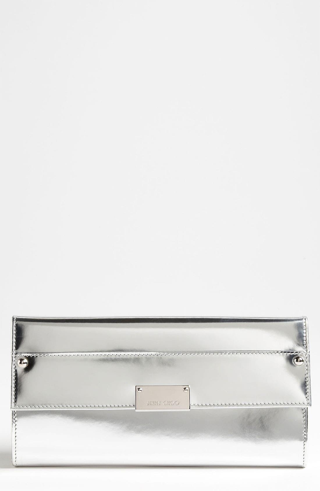 Main Image - Jimmy Choo 'Reese' Metallic Leather Clutch
