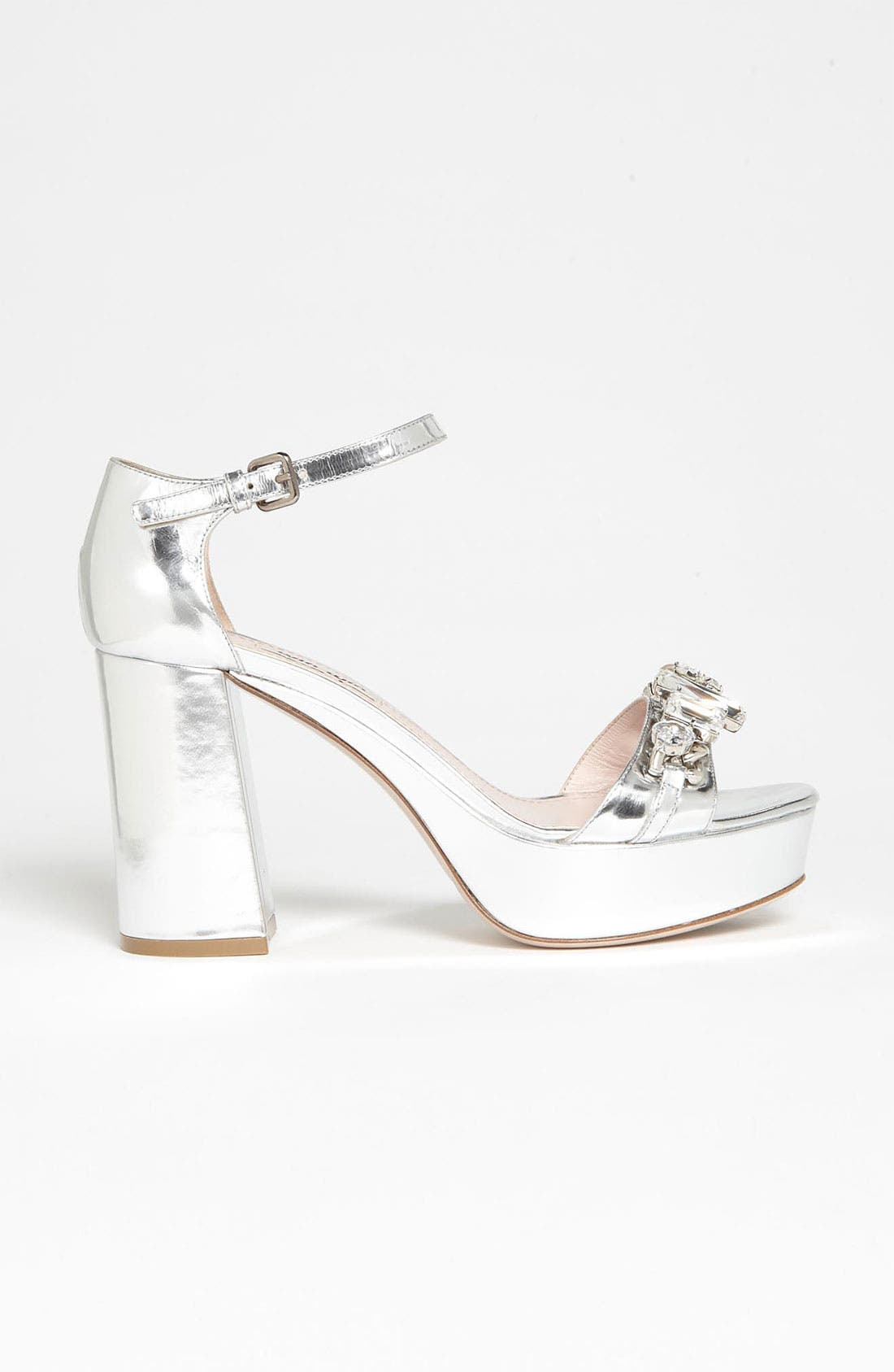 Alternate Image 4  - Miu Miu Crystal Block Heel Sandal
