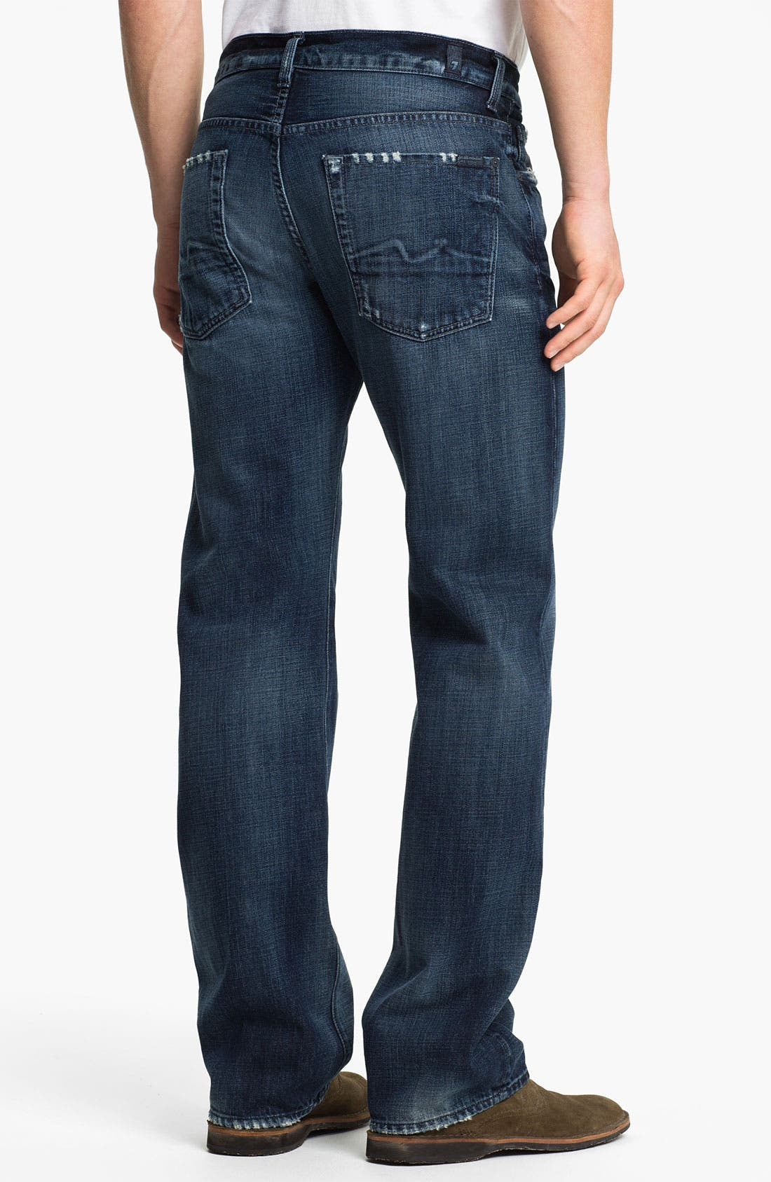 Alternate Image 1 Selected - 7 For All Mankind® 'Austyn' Relaxed Straight Leg Jeans (Kool Nite)