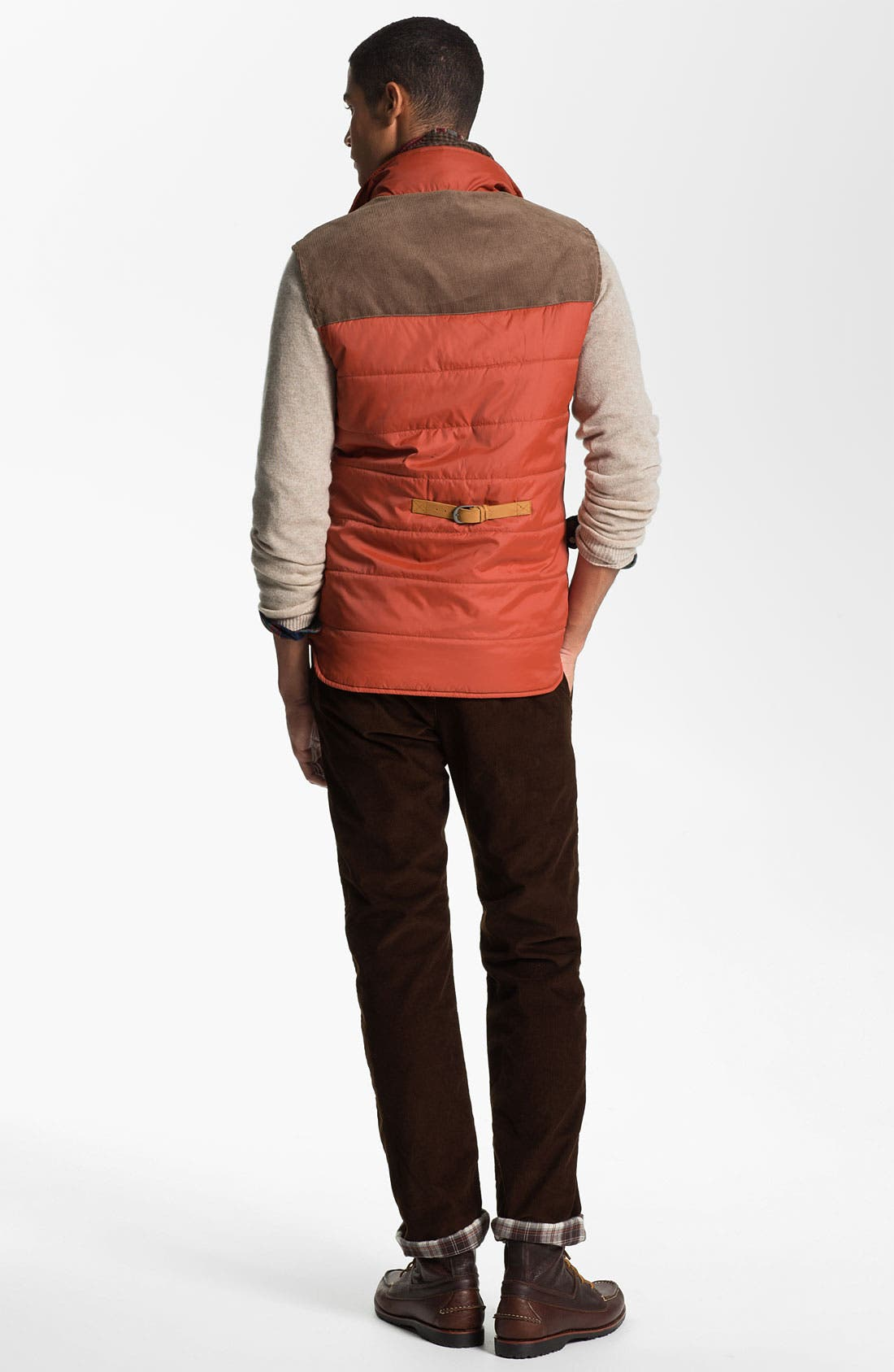 Alternate Image 5  - Toddland Flannel Lined Slim Straight Leg Corduroy Pants