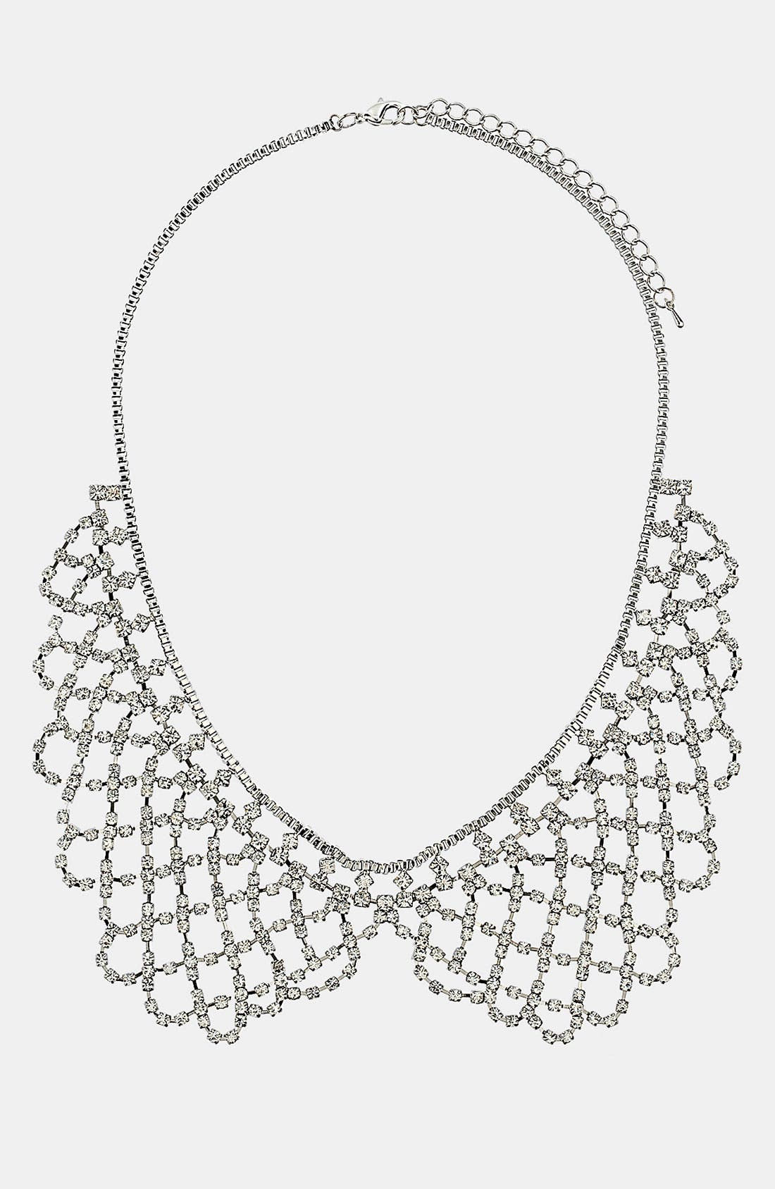 Main Image - Topshop Rhinestone Peter Pan Collar Necklace