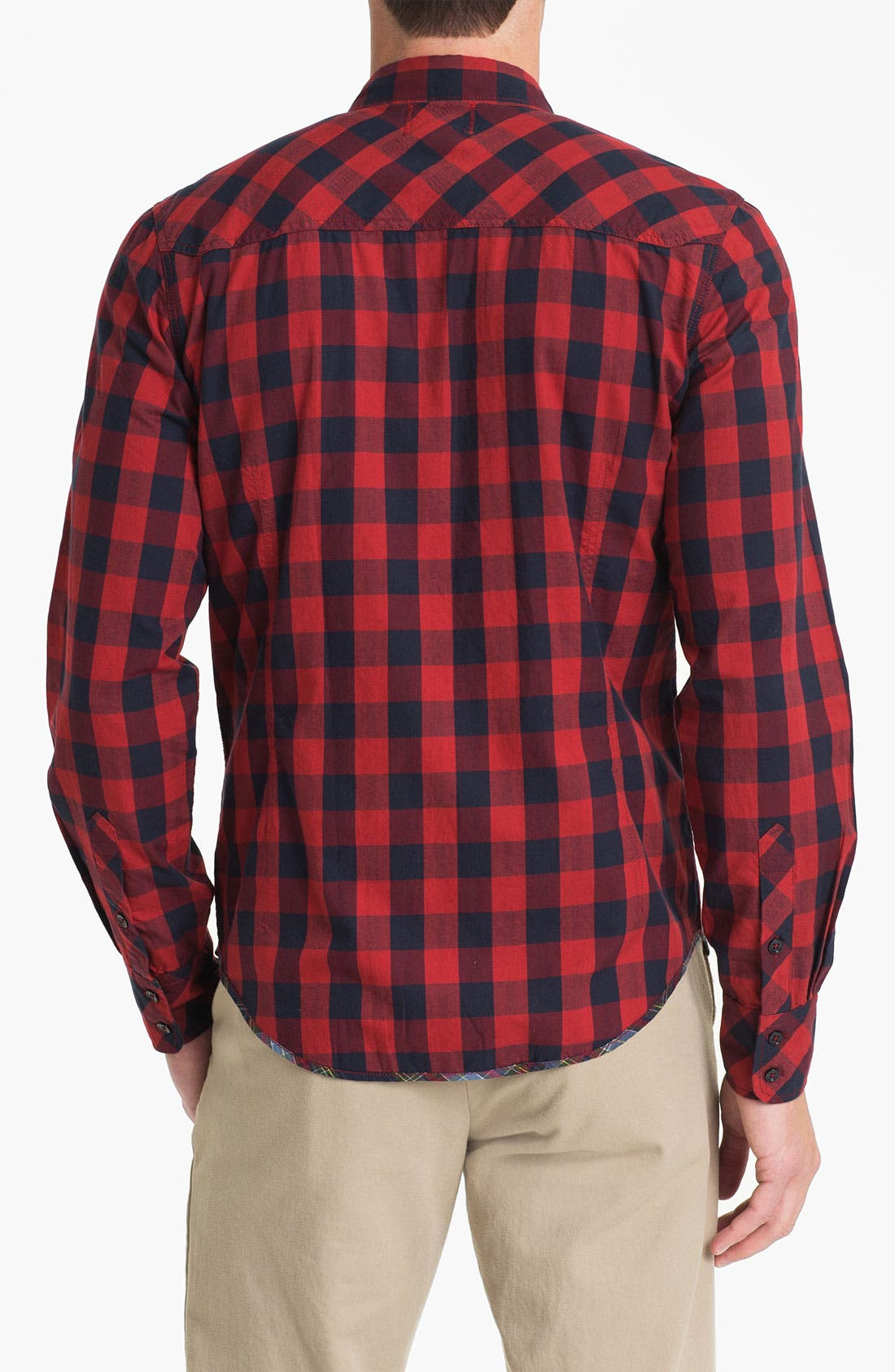 Alternate Image 2  - Vintage Red Check Twill Shirt