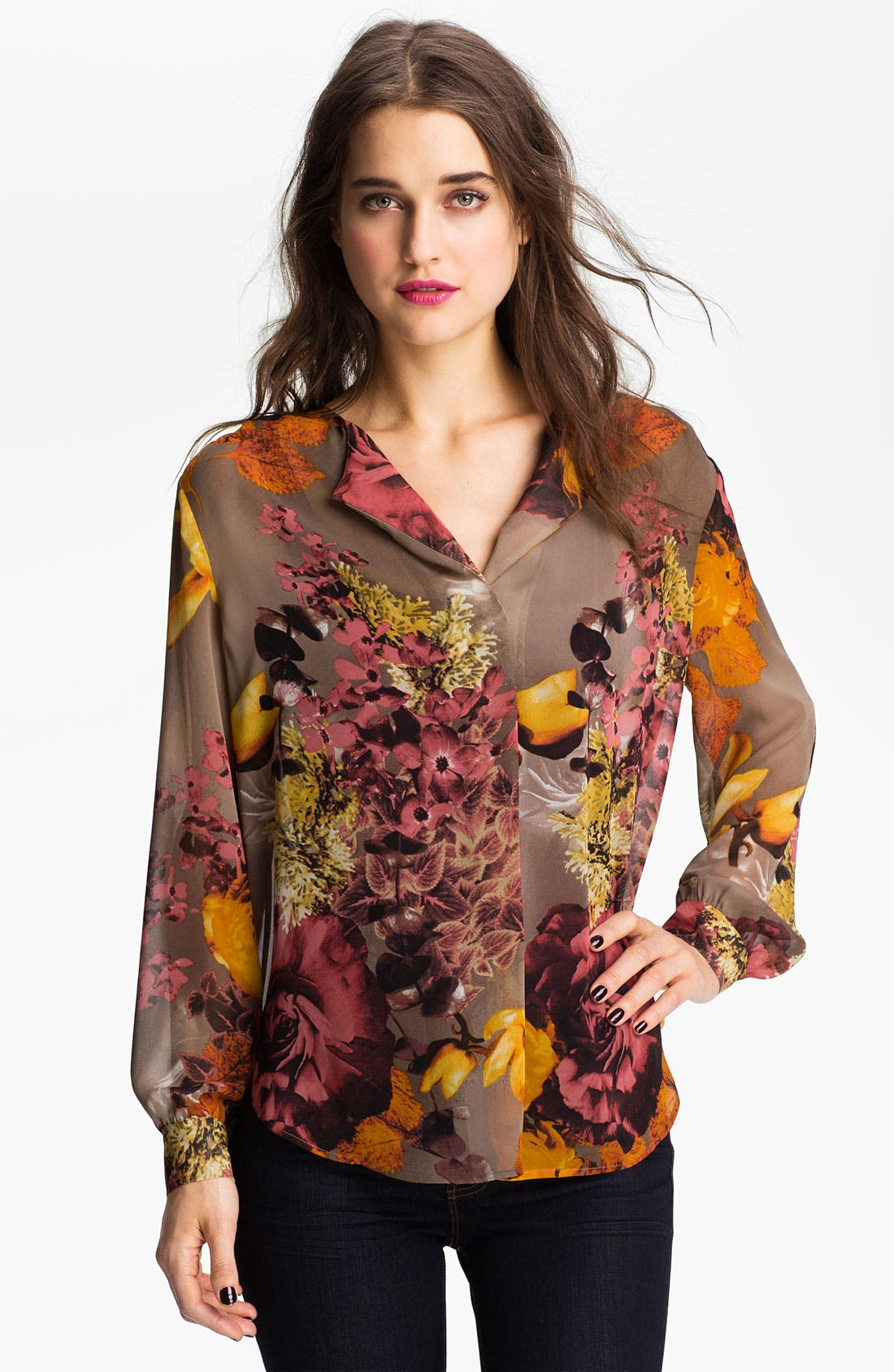 Main Image - Bellatrix Print Sheer Blouse