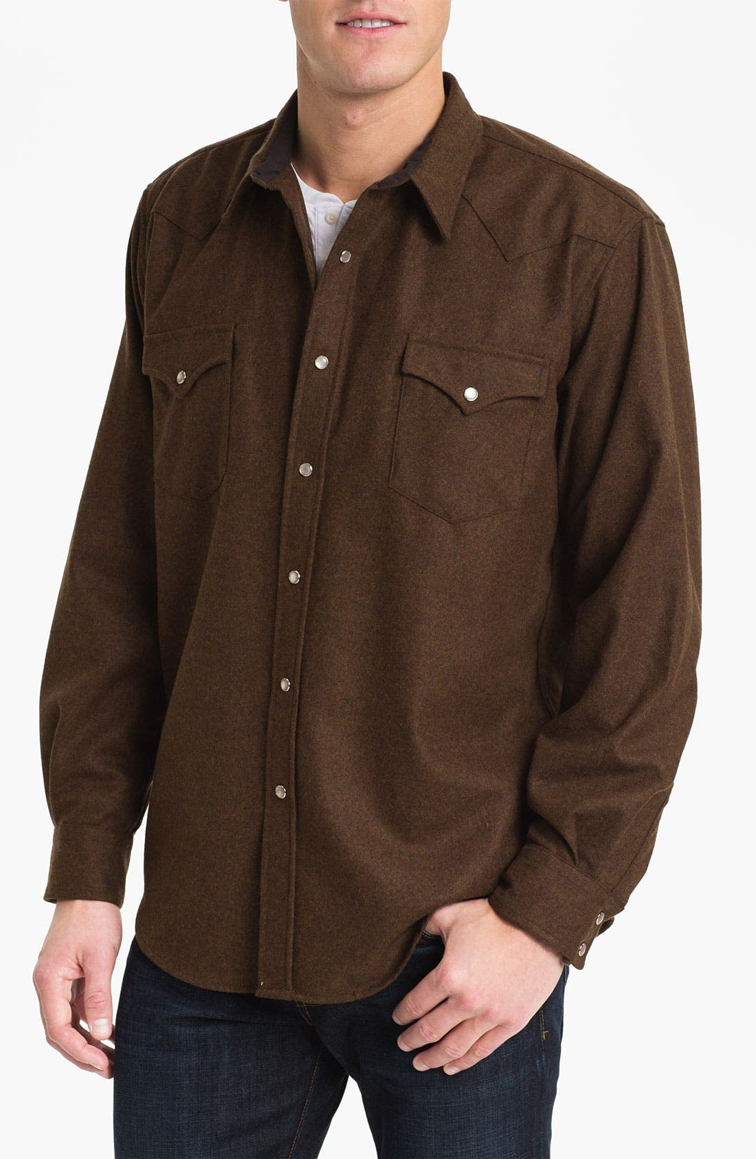 Main Image - Pendleton 'Canyon' Fitted Flannel Shirt