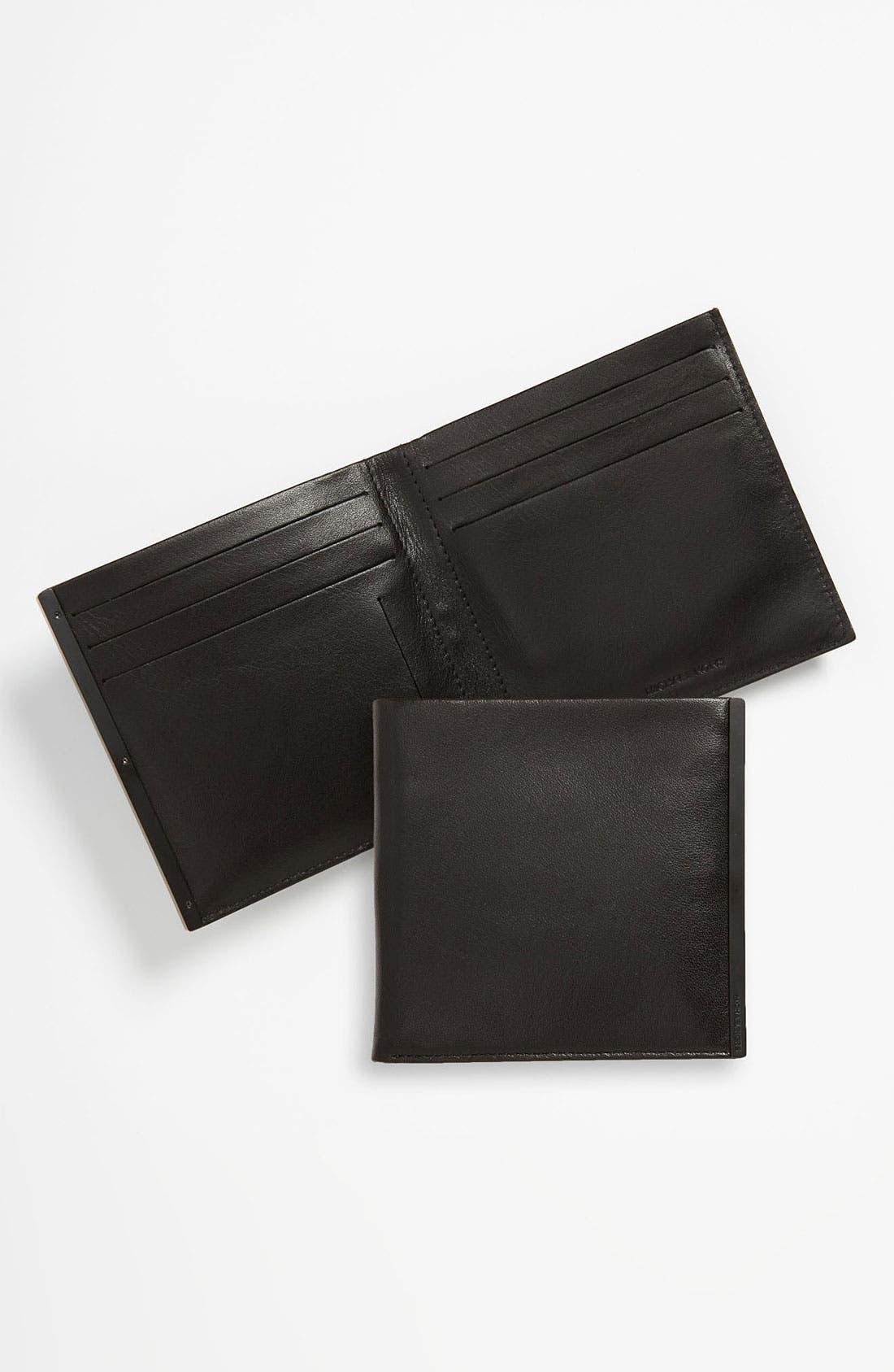 Alternate Image 1 Selected - Michael Kors Calfskin Leather Bifold Wallet