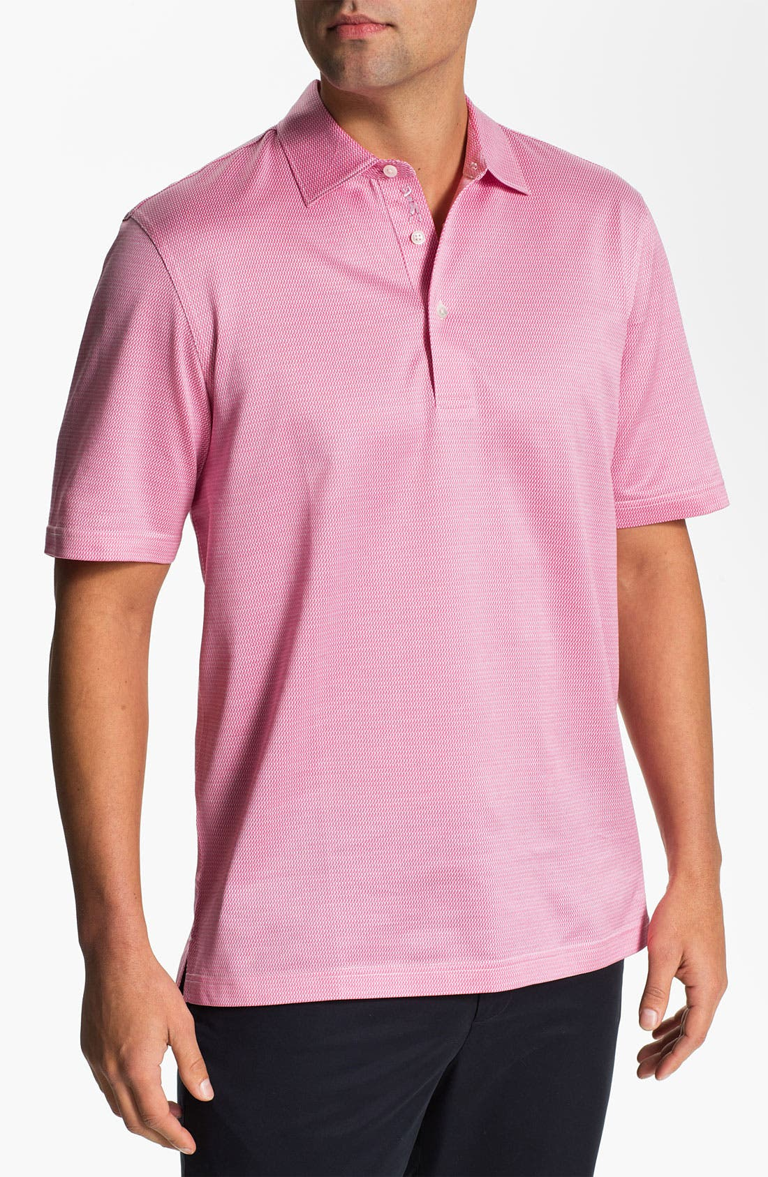 Main Image - Bobby Jones 'Staggered' Jacquard Golf Polo
