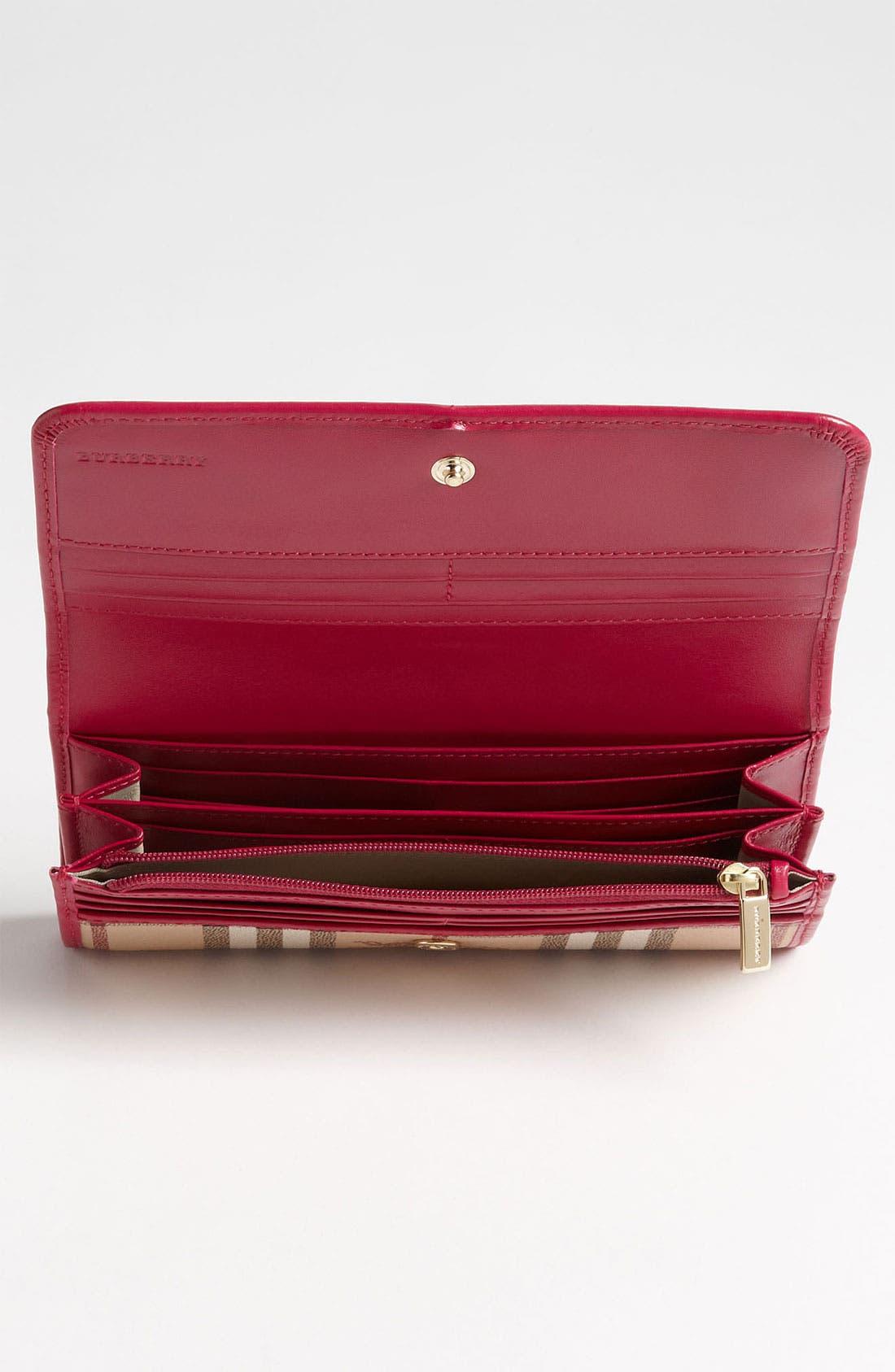 Alternate Image 2  - Burberry 'Haymarket Check' Flap Wallet