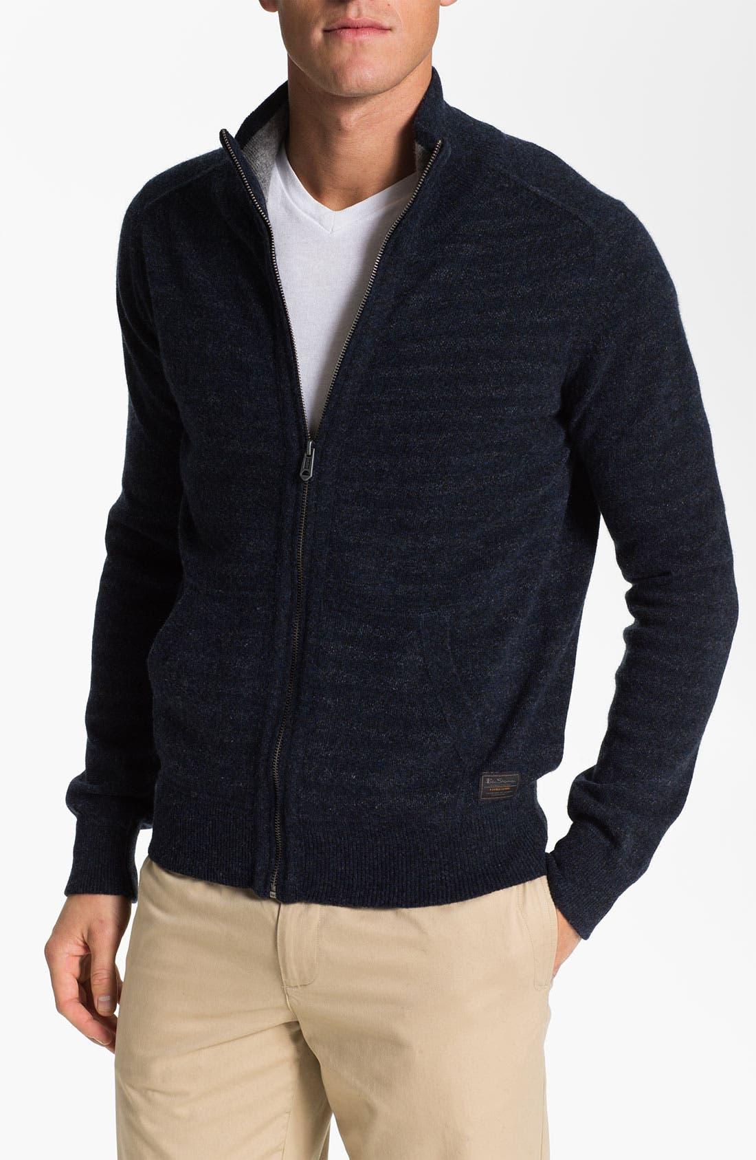 Alternate Image 1 Selected - Ben Sherman Zip Sweater