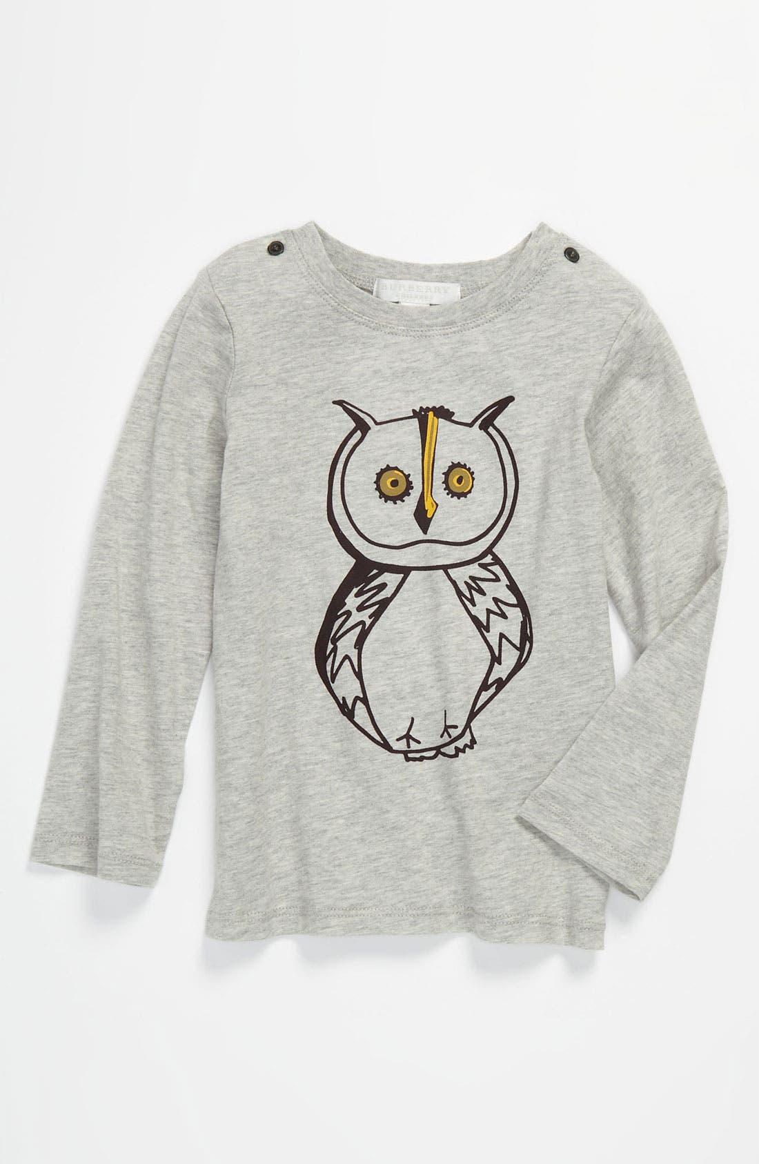 Main Image - Burberry Owl Print Tee (Infant)