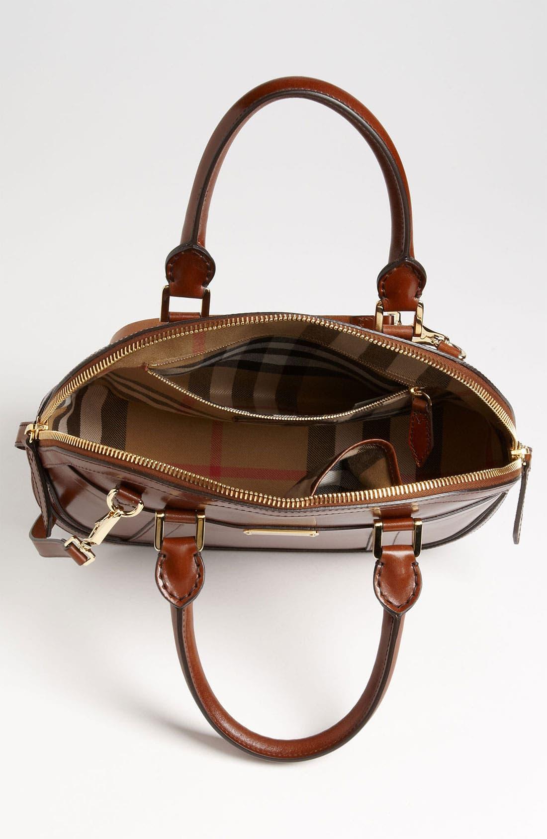 Alternate Image 3  - Burberry Glazed Leather Bowling Bag