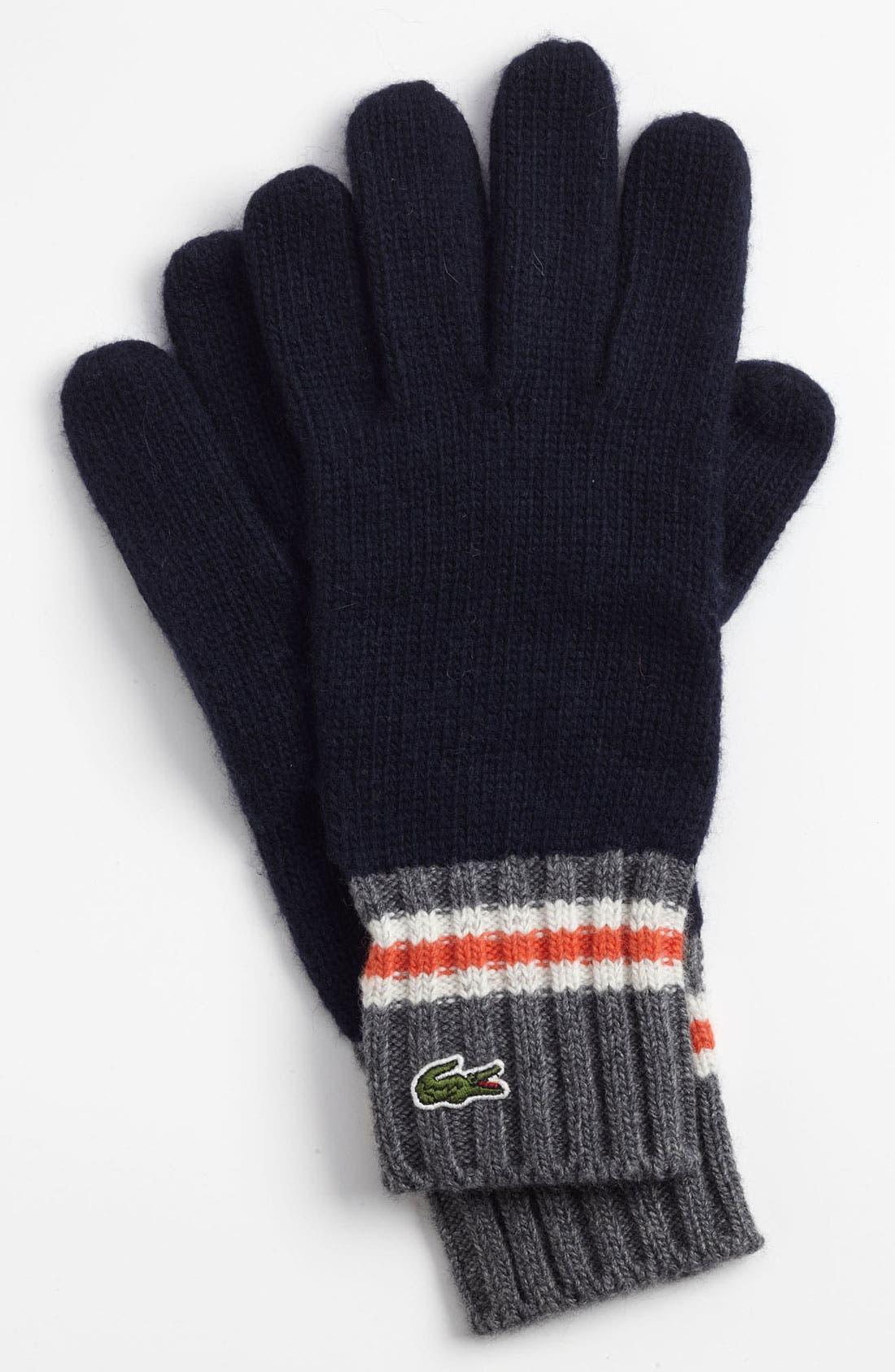 Main Image - Lacoste 'Toboggan' Knit Gloves