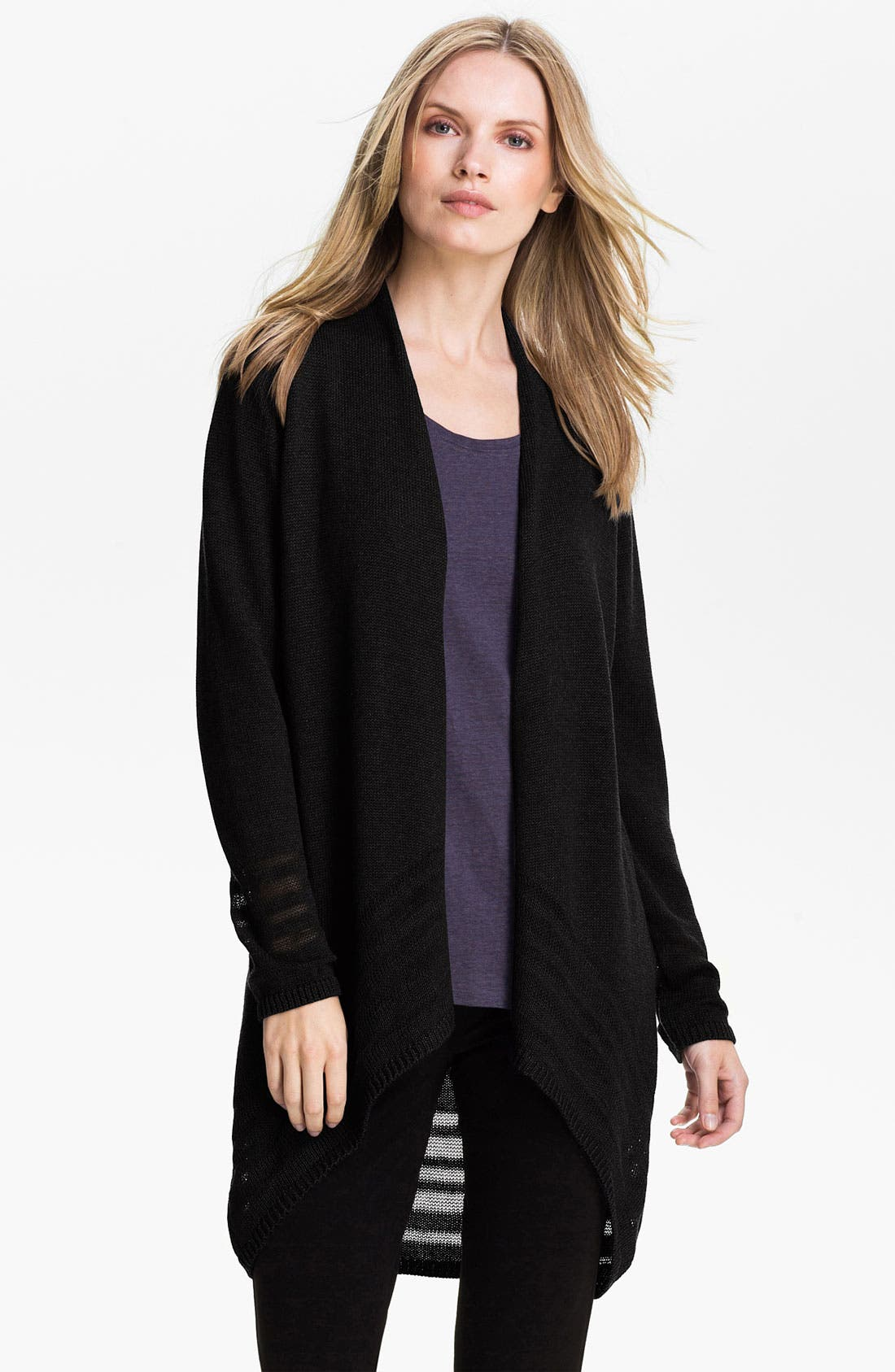 Main Image - Eileen Fisher Angled Front Cardigan