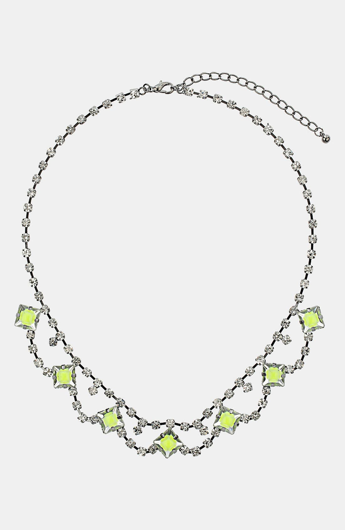 Alternate Image 1 Selected - Topshop Neon Stone Collar Necklace