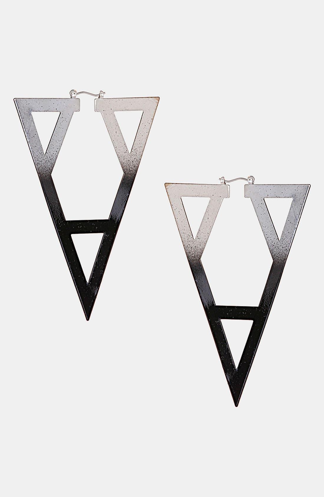 Alternate Image 1 Selected - Topshop 'Ombré Geo' Cutout Earrings