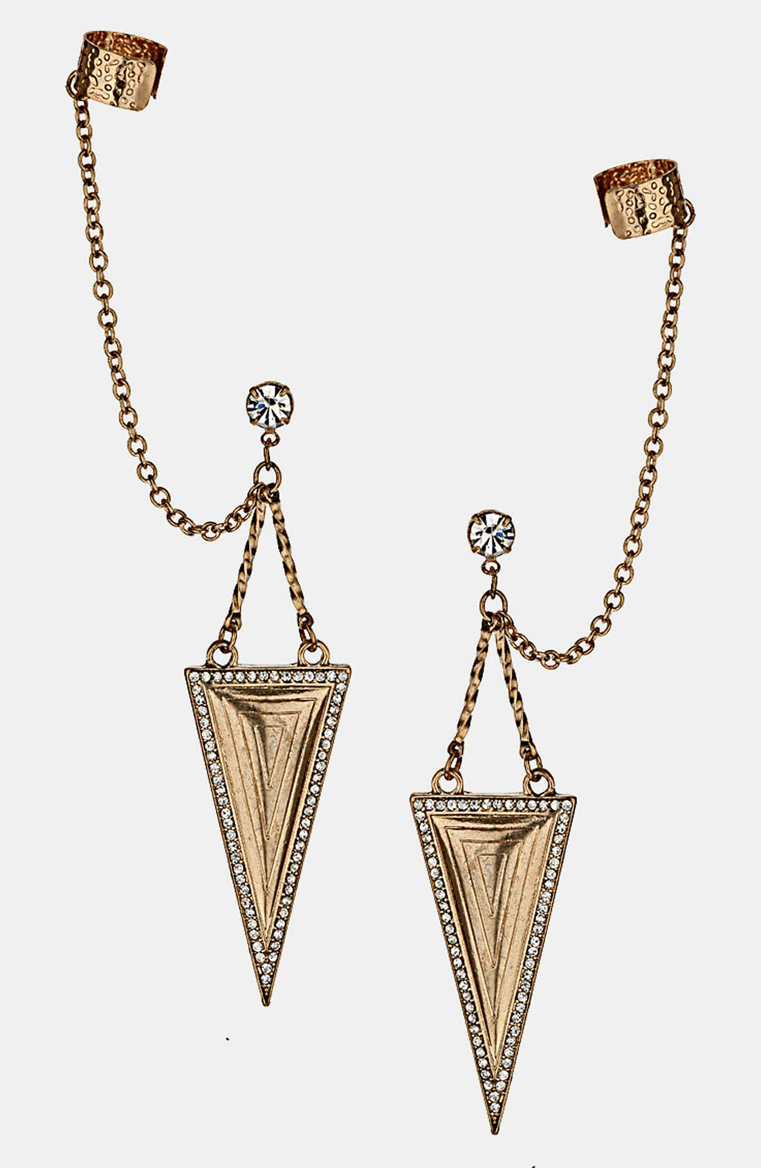 Main Image - Topshop Double Etched Triangle Ear Cuffs