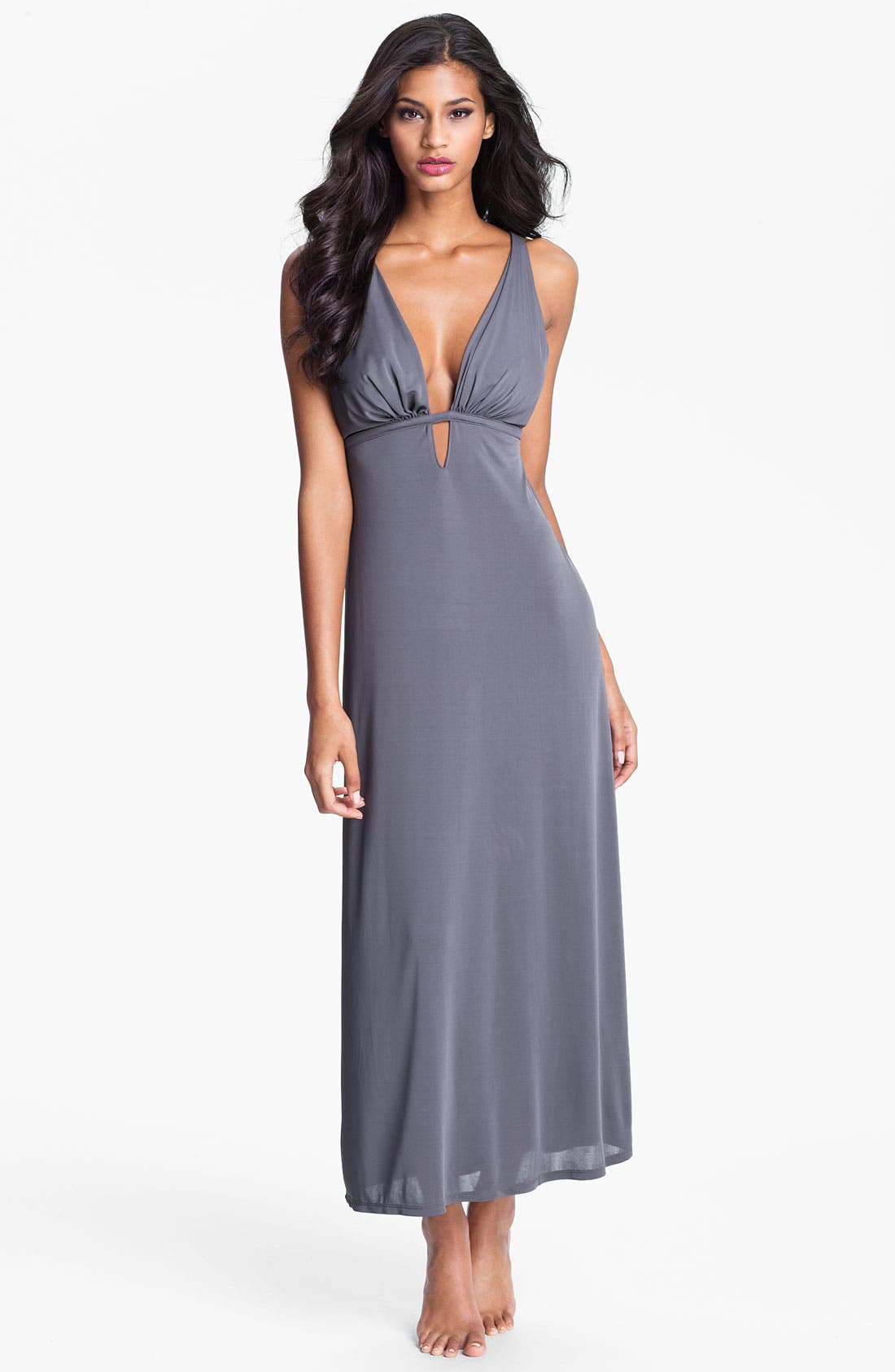Alternate Image 1 Selected - Natori Deep Plunge Gown