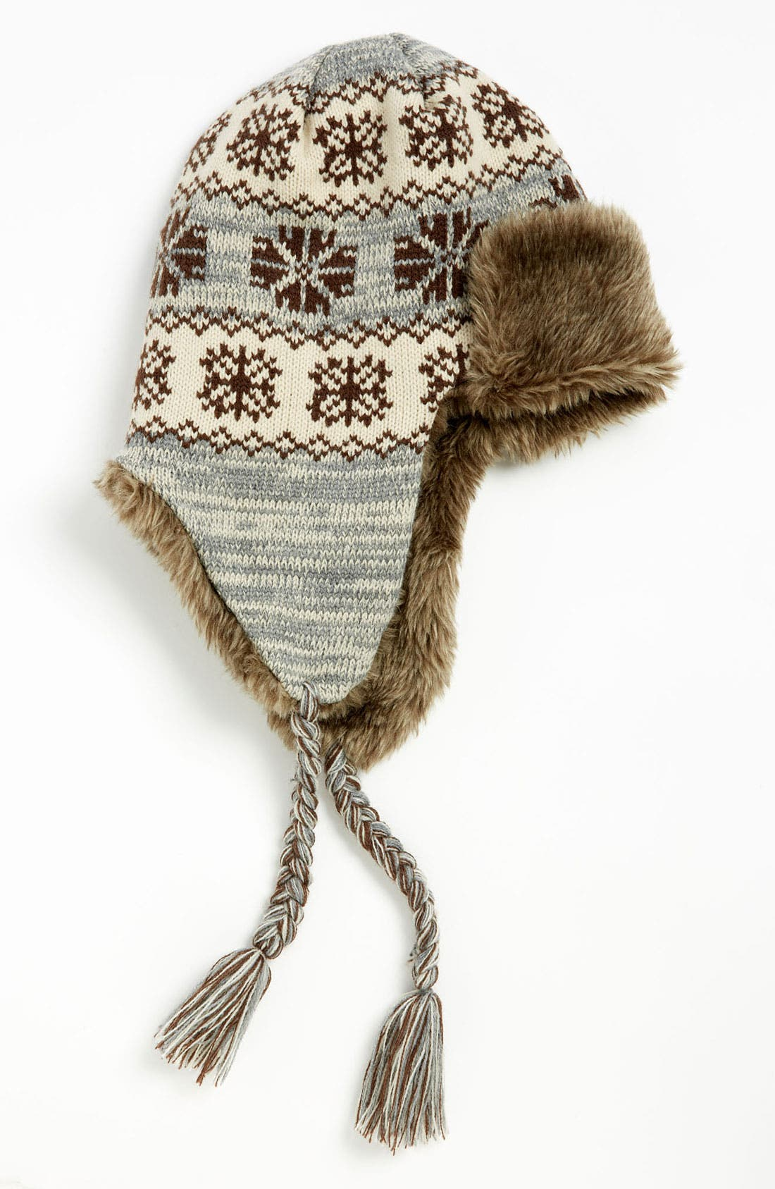 Main Image - The Accessory Collective Faux Fur Lined Hat (Big Boys)
