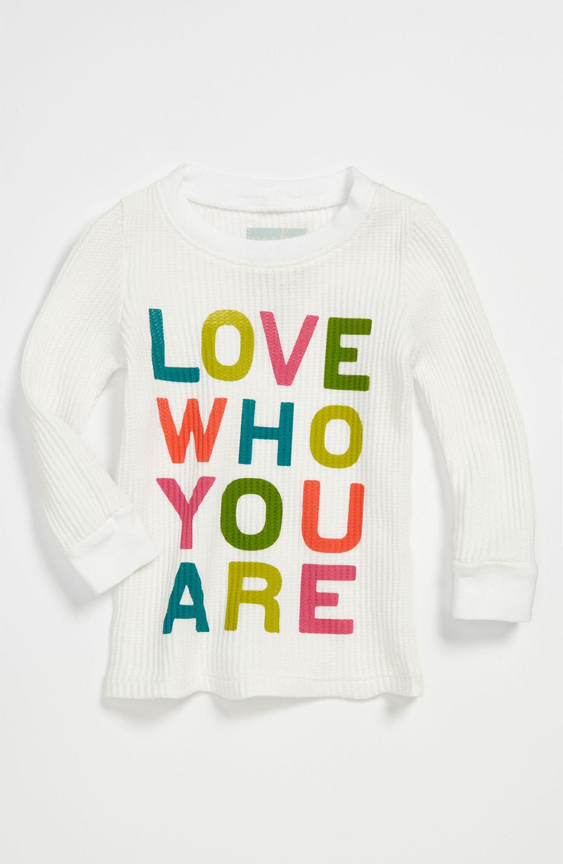 Alternate Image 1 Selected - Peek 'Love Who You Are' Tee (Infant)
