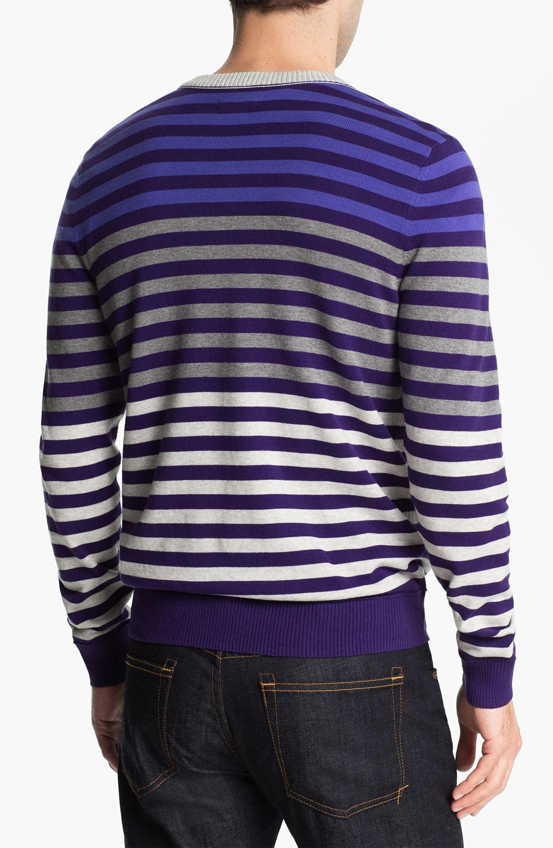 Alternate Image 2  - Public Opinion Stripe V-Neck Sweater