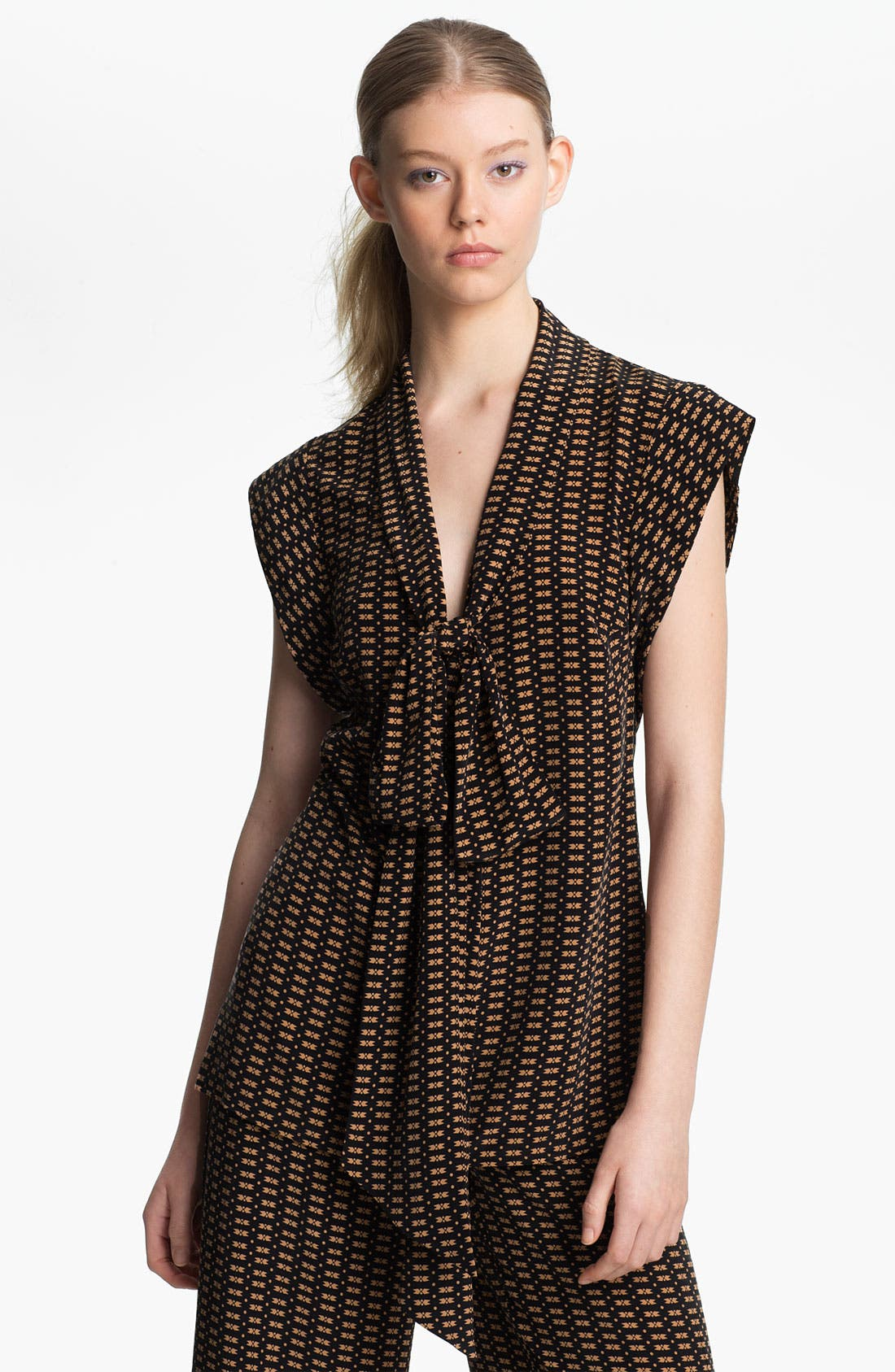 Alternate Image 1 Selected - Tracy Reese 'Motif Stripe' Crêpe de Chine Blouse