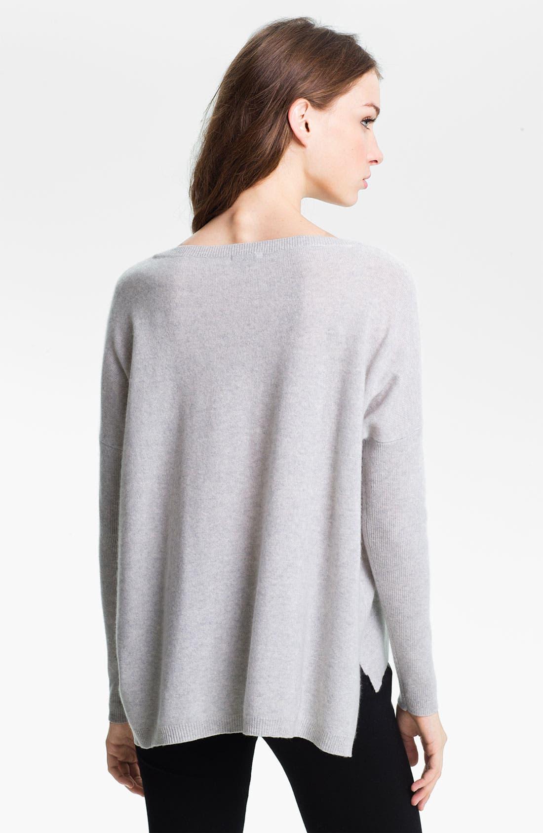 Alternate Image 2  - Halogen® High Low Cashmere Sweater