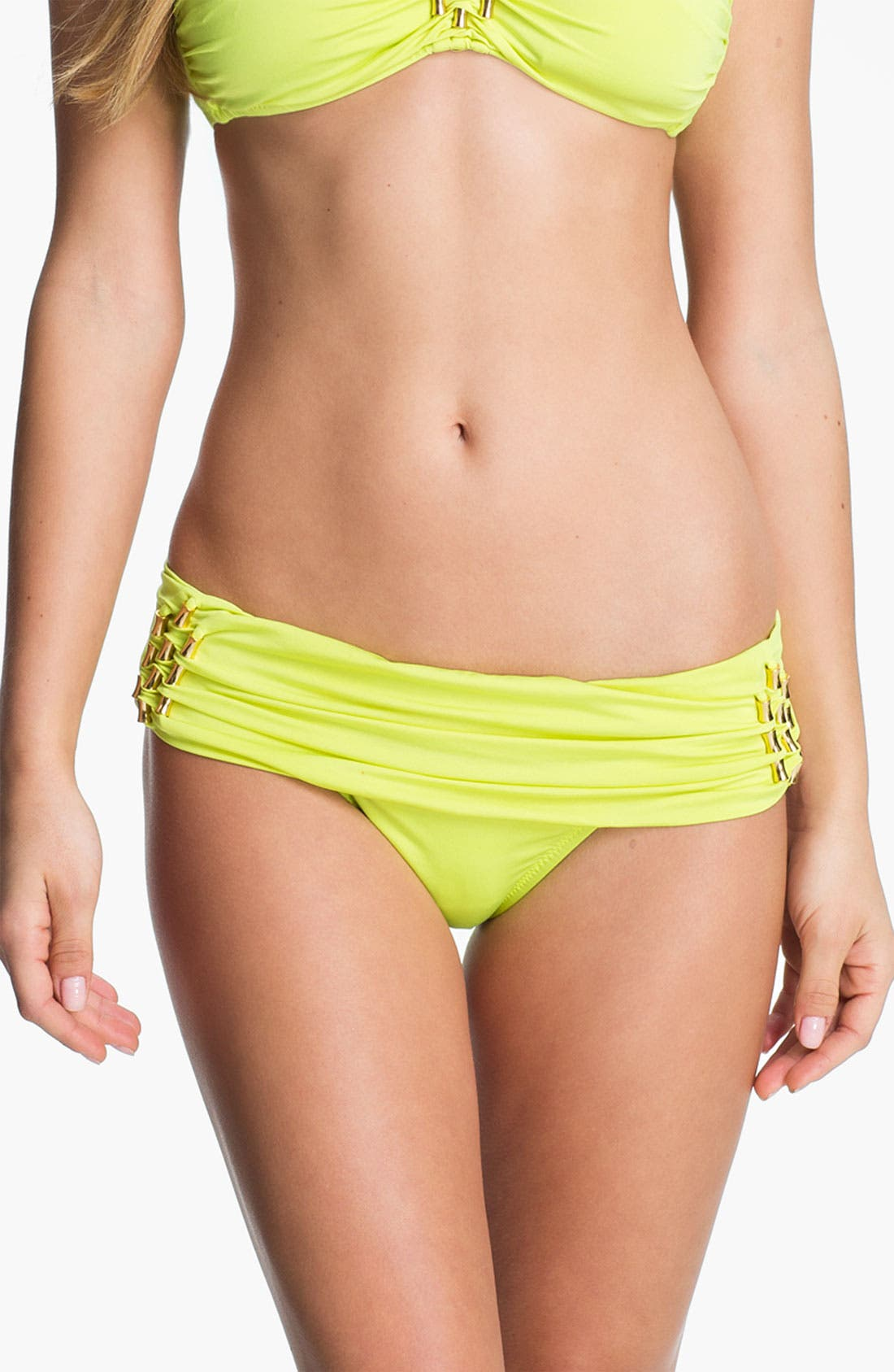 Alternate Image 1 Selected - Trina Turk Sash Waistband Hipster Bikini Bottoms