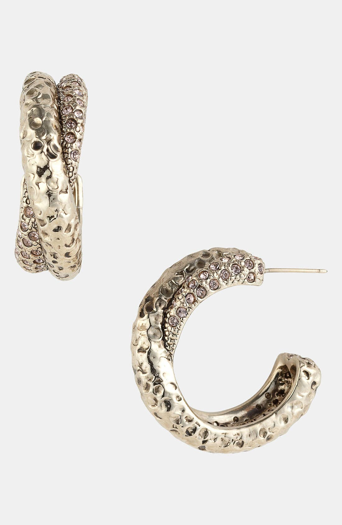 Main Image - St. John Collection Swarovski Crystal Hoop Earrings