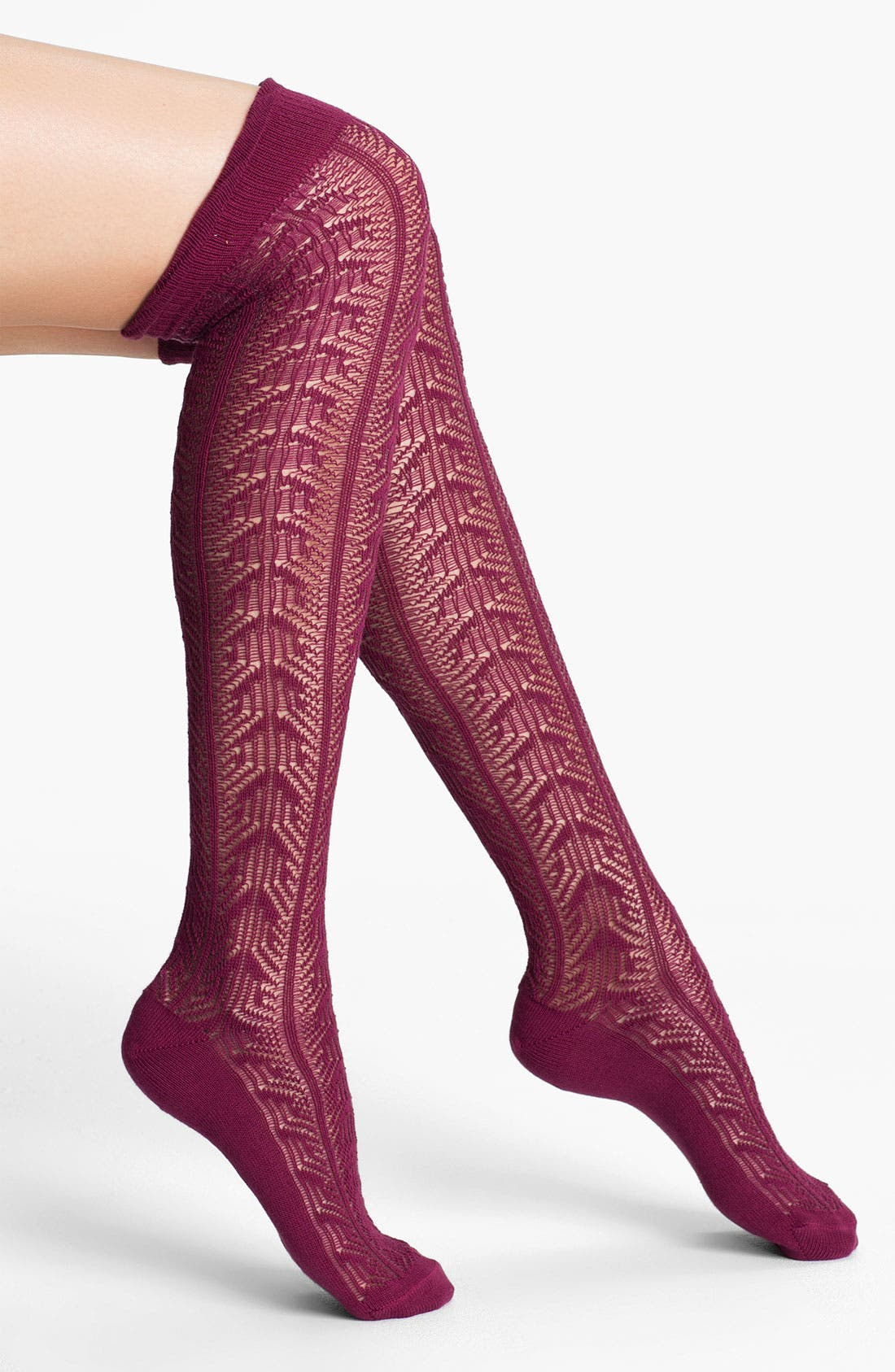 Main Image - Nordstrom 'Frill of It' Over the Knee Socks