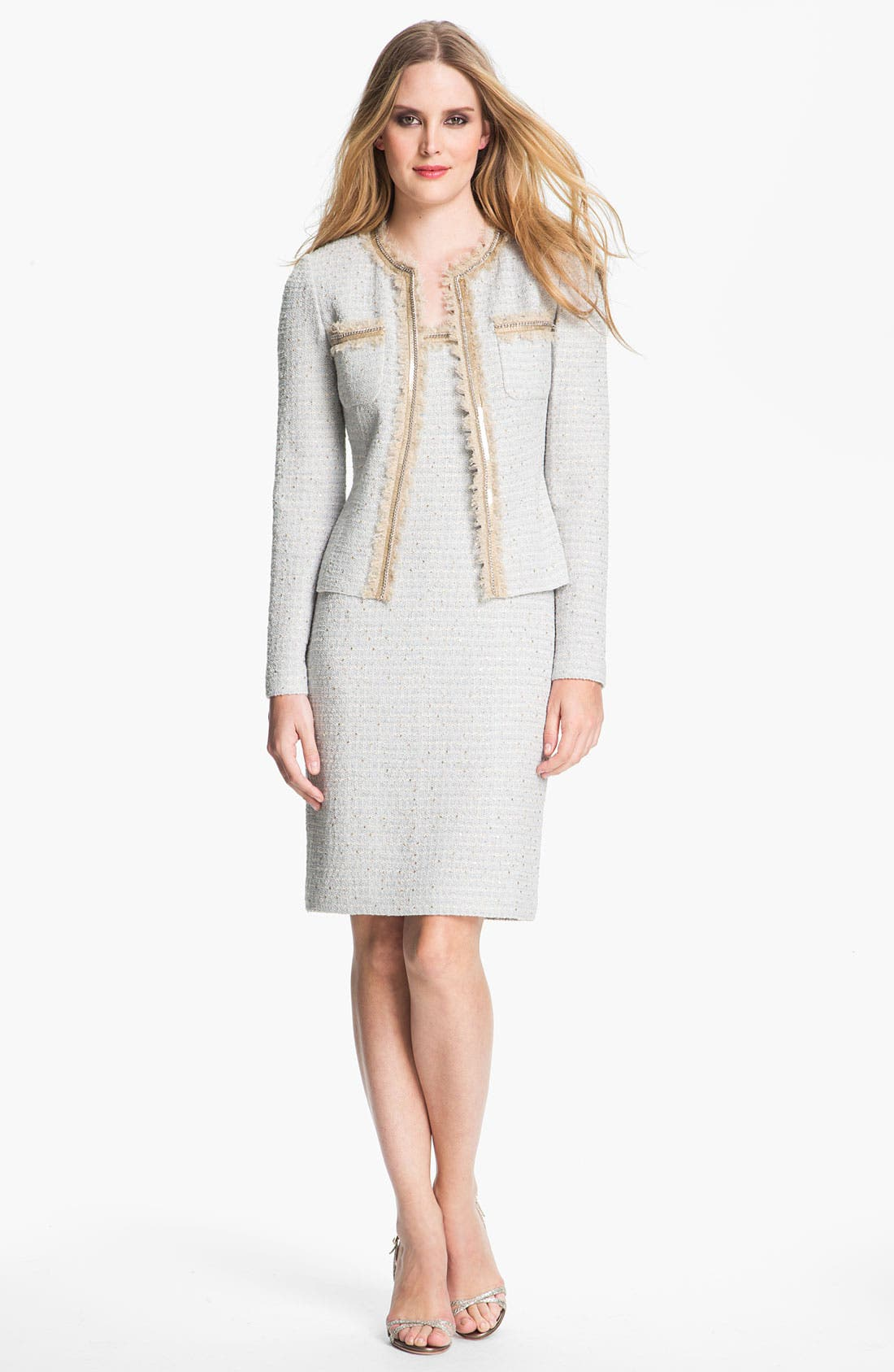Main Image - St. John Collection Sequin Ice Tweed Knit Jacket