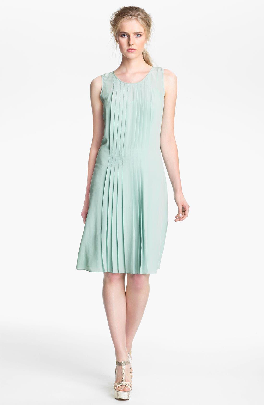 Alternate Image 1 Selected - Rachel Zoe 'Karlie' Pleated Shift Dress