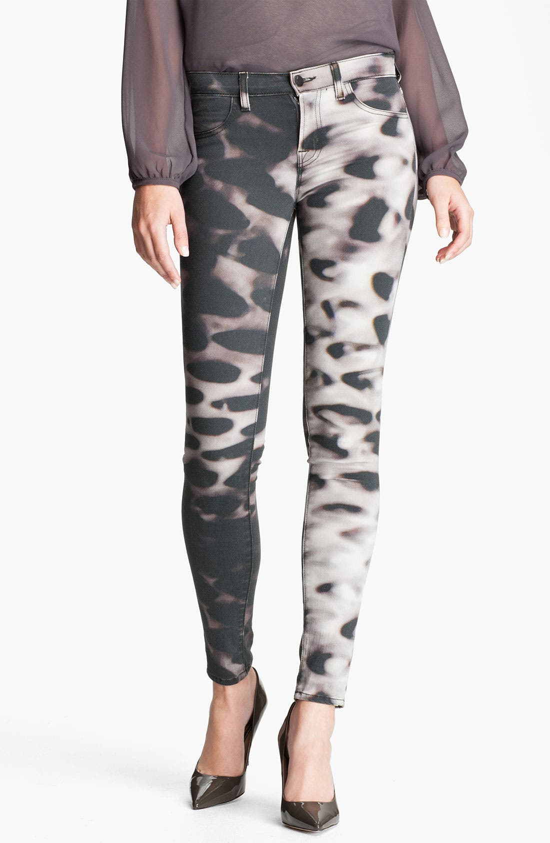 Alternate Image 1 Selected - J Brand Print Skinny Leg Jeans (Glacier)