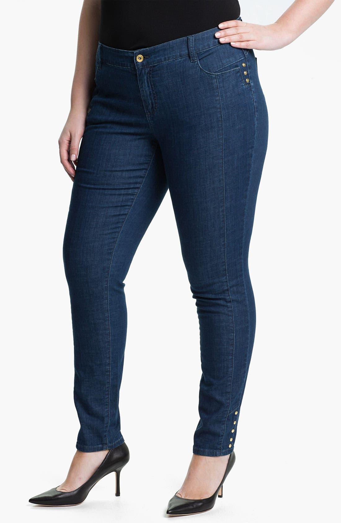 Alternate Image 1 Selected - Mynt 1792 'Midtown' Skinny Jeans (Plus)