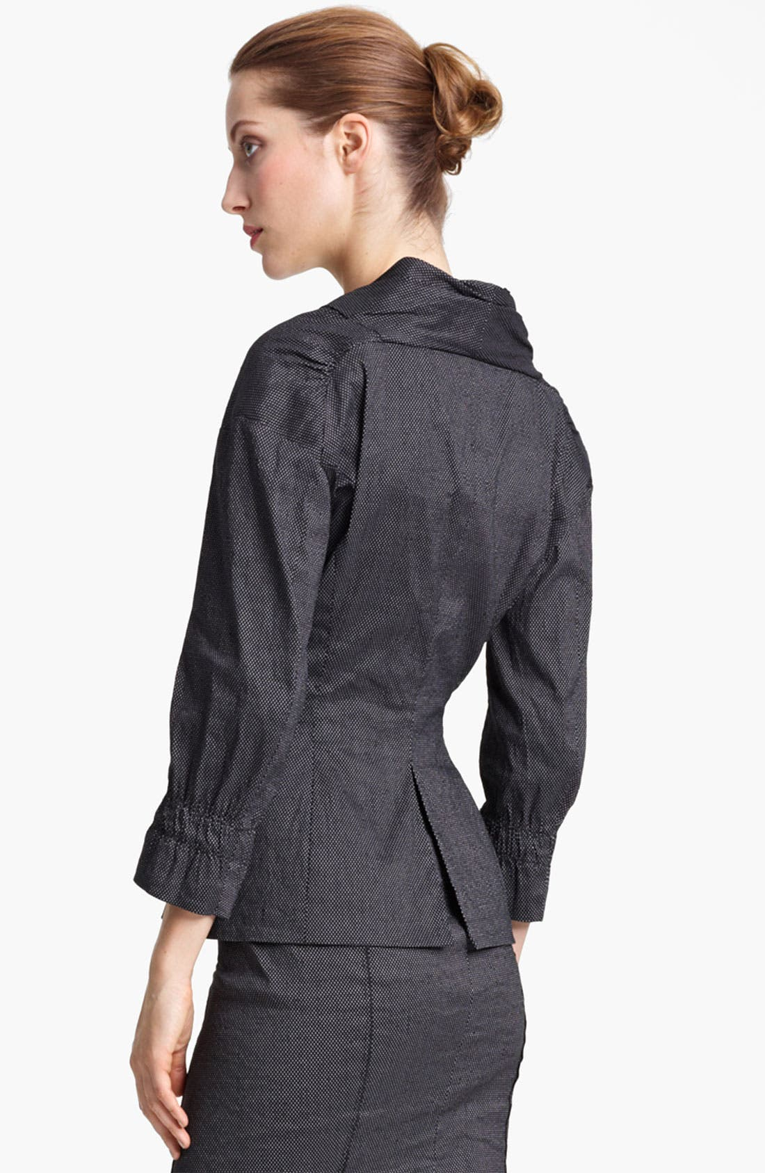 Alternate Image 2  - Nina Ricci Zip Front Pin Dot Jacket