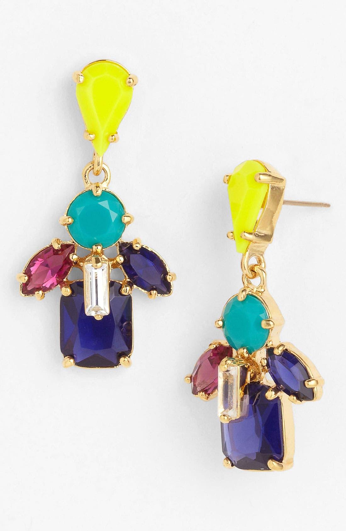 Main Image - kate spade new york 'kaleidoscope floral' drop earrings